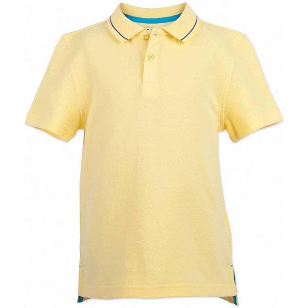 Поло для мальчика  BUTTON BLUEФутболки, поло и топы<br>Поло для мальчика  BUTTON BLUE<br>Яркая футболка-поло - изделие из разряда must have! Это не только базовая вещь в гардеробе ребенка, но и залог хорошего летнего настроения! Если вы решили купить недорогую  футболку-поло для мальчика, выберете желтую модель от Button Blue и ваш ребенок будет доволен! Низкая цена не окажет влияния на бюджет семьи, позволив создать интересный базовый гардероб для долгожданных каникул!<br>Состав:<br>100%  хлопок<br><br>Ширина мм: 199<br>Глубина мм: 10<br>Высота мм: 161<br>Вес г: 151<br>Цвет: желтый<br>Возраст от месяцев: 72<br>Возраст до месяцев: 84<br>Пол: Мужской<br>Возраст: Детский<br>Размер: 122,104,98,116,110,158,152,146,140,134,128<br>SKU: 5524368