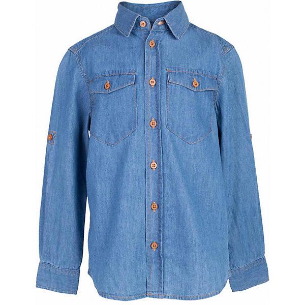 Рубашка джинсовая для мальчика  BUTTON BLUEБлузки и рубашки<br>Рубашка для мальчика  BUTTON BLUE<br>Джинсовая рубашка - модный акцент повседневного гардероба ребенка. Купить рубашку для мальчика стоит уже ранней весной, и сочетать ее с футболкой, толстовкой, джемпером, создавая модные многослойные образы. И для лета классная рубашка из 100% хлопка - отличный вариант. С брюками, шортами, джинсами она будет выглядеть свежо и стильно!<br>Состав:<br>100%  хлопок<br><br>Ширина мм: 174<br>Глубина мм: 10<br>Высота мм: 169<br>Вес г: 157<br>Цвет: синий<br>Возраст от месяцев: 48<br>Возраст до месяцев: 60<br>Пол: Мужской<br>Возраст: Детский<br>Размер: 110,128,134,140,146,152,158,116,122,104,98<br>SKU: 5524428