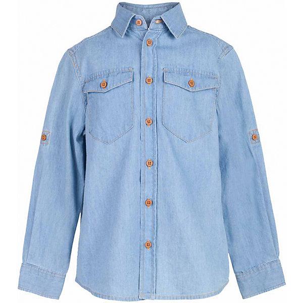 Рубашка джинсовая для мальчика  BUTTON BLUEБлузки и рубашки<br>Рубашка для мальчика  BUTTON BLUE<br>Джинсовая рубашка - модный акцент повседневного гардероба ребенка. Купить рубашку для мальчика стоит уже ранней весной, и сочетать ее с футболкой, толстовкой, джемпером, создавая модные многослойные образы. И для лета классная рубашка из 100% хлопка - отличный вариант. С брюками, шортами, джинсами она будет выглядеть свежо и стильно!<br>Состав:<br>100%  хлопок<br><br>Ширина мм: 174<br>Глубина мм: 10<br>Высота мм: 169<br>Вес г: 157<br>Цвет: голубой<br>Возраст от месяцев: 24<br>Возраст до месяцев: 36<br>Пол: Мужской<br>Возраст: Детский<br>Размер: 98,158,152,146,140,134,122,116,128,110,104<br>SKU: 5524440