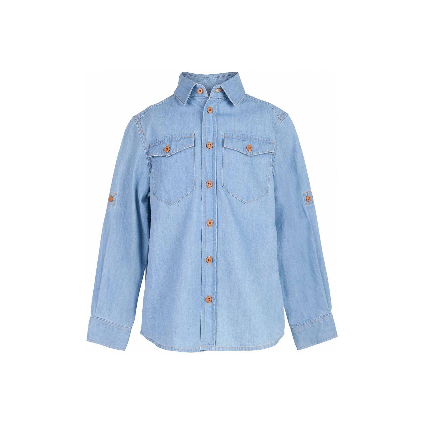 Рубашка джинсовая для мальчика  BUTTON BLUEБлузки и рубашки<br>Рубашка для мальчика  BUTTON BLUE<br>Джинсовая рубашка - модный акцент повседневного гардероба ребенка. Купить рубашку для мальчика стоит уже ранней весной, и сочетать ее с футболкой, толстовкой, джемпером, создавая модные многослойные образы. И для лета классная рубашка из 100% хлопка - отличный вариант. С брюками, шортами, джинсами она будет выглядеть свежо и стильно!<br>Состав:<br>100%  хлопок<br><br>Ширина мм: 174<br>Глубина мм: 10<br>Высота мм: 169<br>Вес г: 157<br>Цвет: голубой<br>Возраст от месяцев: 120<br>Возраст до месяцев: 132<br>Пол: Мужской<br>Возраст: Детский<br>Размер: 146,152,158,98,104,110,116,122,128,134,140<br>SKU: 5524440