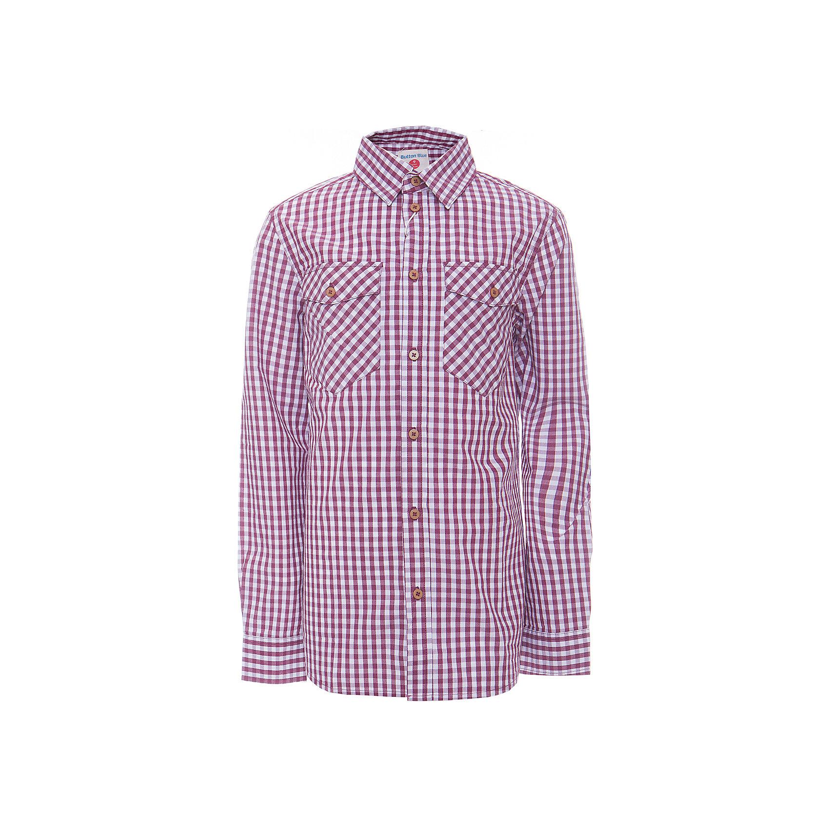 Рубашка для мальчика  BUTTON BLUEРубашка для мальчика  BUTTON BLUE<br>Клетчатая рубашка - яркий акцент повседневного образа ребенка. Купить рубашку для мальчика стоит ранней весной, и сочетать ее с футболкой, толстовкой, джемпером, создавая модные многослойные решения. И для лета яркая рубашка в клетку из 100% хлопка - отличный вариант. С брюками, шортами, джинсами она будет выглядеть свежо и стильно!<br>Состав:<br>100%  хлопок<br><br>Ширина мм: 174<br>Глубина мм: 10<br>Высота мм: 169<br>Вес г: 157<br>Цвет: красный<br>Возраст от месяцев: 144<br>Возраст до месяцев: 156<br>Пол: Мужской<br>Возраст: Детский<br>Размер: 158,98,104,110,116,122,128,134,140,146,152<br>SKU: 5524452
