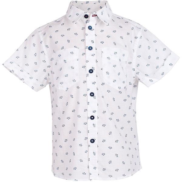 Сорочка для мальчика  BUTTON BLUEБлузки и рубашки<br>Сорочка для мальчика  BUTTON BLUE<br>Белая рубашка с модным мелким рисунком - яркий акцент повседневного образа ребенка. Купить рубашку для мальчика стоит ранней весной, и сочетать ее с футболкой, толстовкой, джемпером, создавая модные многослойные решения. И для лета рубашка с коротким рукавом из 100% хлопка - отличный вариант. С брюками, шортами, джинсами она будет выглядеть свежо и стильно!<br>Состав:<br>100%  хлопок<br>Ширина мм: 174; Глубина мм: 10; Высота мм: 169; Вес г: 157; Цвет: белый; Возраст от месяцев: 24; Возраст до месяцев: 36; Пол: Мужской; Возраст: Детский; Размер: 98,158,152,146,140,134,128,122,116,110,104; SKU: 5524488;