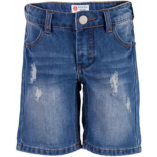Шорты джинсовые для мальчика  BUTTON BLUEШорты, бриджи, капри<br>Шорты для мальчика  BUTTON BLUE<br>Классные джинсовые шорты с потертостями, варкой и повреждениями - прекрасное решение на каждый день! И дома, и в лагере, и на спортивной площадке эти шорты для мальчика обеспечат комфорт и соответствие модным трендам. Купить недорого детские шорты от Button Blue , значит, сделать каждый летний день ребенка радостным и беззаботным!<br>Состав:<br>100%  хлопок<br><br>Ширина мм: 191<br>Глубина мм: 10<br>Высота мм: 175<br>Вес г: 273<br>Цвет: голубой<br>Возраст от месяцев: 24<br>Возраст до месяцев: 36<br>Пол: Мужской<br>Возраст: Детский<br>Размер: 98,158,152,146,140,134,116,110,104<br>SKU: 5524634
