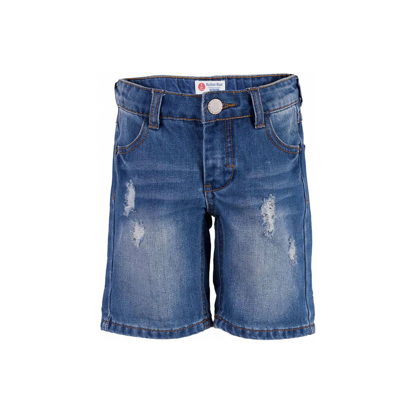 Шорты джинсовые для мальчика  BUTTON BLUEШорты, бриджи, капри<br>Шорты для мальчика  BUTTON BLUE<br>Классные джинсовые шорты с потертостями, варкой и повреждениями - прекрасное решение на каждый день! И дома, и в лагере, и на спортивной площадке эти шорты для мальчика обеспечат комфорт и соответствие модным трендам. Купить недорого детские шорты от Button Blue , значит, сделать каждый летний день ребенка радостным и беззаботным!<br>Состав:<br>100%  хлопок<br><br>Ширина мм: 191<br>Глубина мм: 10<br>Высота мм: 175<br>Вес г: 273<br>Цвет: голубой<br>Возраст от месяцев: 144<br>Возраст до месяцев: 156<br>Пол: Мужской<br>Возраст: Детский<br>Размер: 158,98,104,110,116,134,140,146,152<br>SKU: 5524634
