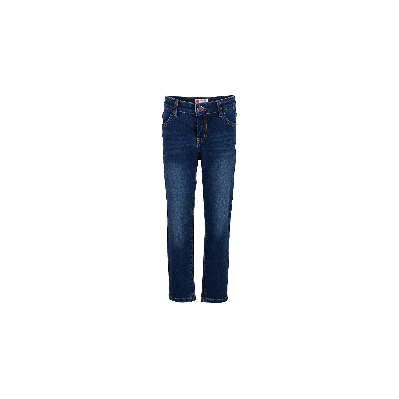 Джинсы для мальчика  BUTTON BLUEДжинсы для мальчика  BUTTON BLUE<br>Классные синие джинсы с потертостями и повреждениями — гарантия модного современного образа! Хороший крой, удобная посадка на фигуре подарят мальчику комфорт и свободу движений. Если вы хотите купить ребенку недорогие модные зауженные джинсы, модель от Button Blue - прекрасный выбор!<br>Состав:<br>75% хлопок 23%полиэстер 2%эластан<br><br>Ширина мм: 215<br>Глубина мм: 88<br>Высота мм: 191<br>Вес г: 336<br>Цвет: синий<br>Возраст от месяцев: 144<br>Возраст до месяцев: 156<br>Пол: Мужской<br>Возраст: Детский<br>Размер: 158,98,104,110,116,122,128,134,140,146,152<br>SKU: 5524710