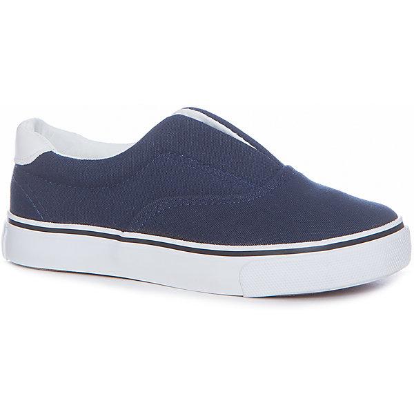 Слипоны для мальчика Button BlueСлипоны<br>Слипоны для мальчика  BUTTON BLUE<br>Текстильная спортивная обувь - хит весенне-летнего сезона! Слипоны, кроссовки, слипоны с легкостью вытеснили из детского гардероба сандалии и туфли. Синие Слипоны от Button Blue - прекрасный летний вариант. Если вы хотите купить стильные и качественные Слипоны для мальчика, эта модель - то, что нужно.<br>Состав:<br>верх: канвас подклад: хлопок стелька: хлопок подошва: резина<br><br>Ширина мм: 250<br>Глубина мм: 150<br>Высота мм: 150<br>Вес г: 250<br>Цвет: синий<br>Возраст от месяцев: 48<br>Возраст до месяцев: 60<br>Пол: Мужской<br>Возраст: Детский<br>Размер: 28,29,30,31,32,33,34,35,36,37,38,26,27<br>SKU: 5524736