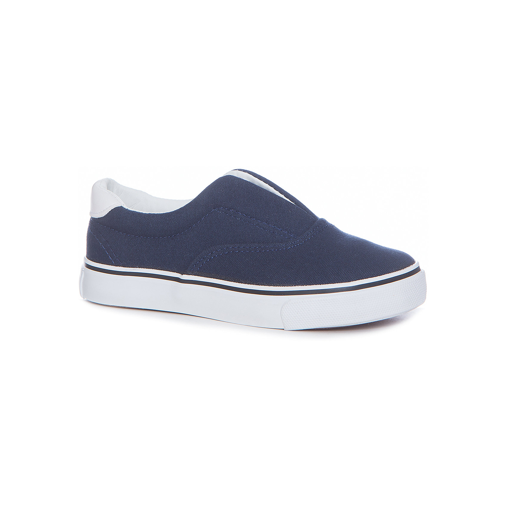 Слипоны для мальчика Button BlueСлипоны<br>Слипоны для мальчика  BUTTON BLUE<br>Текстильная спортивная обувь - хит весенне-летнего сезона! Слипоны, кроссовки, слипоны с легкостью вытеснили из детского гардероба сандалии и туфли. Синие Слипоны от Button Blue - прекрасный летний вариант. Если вы хотите купить стильные и качественные Слипоны для мальчика, эта модель - то, что нужно.<br>Состав:<br>верх: канвас подклад: хлопок стелька: хлопок подошва: резина<br><br>Ширина мм: 250<br>Глубина мм: 150<br>Высота мм: 150<br>Вес г: 250<br>Цвет: синий<br>Возраст от месяцев: 24<br>Возраст до месяцев: 36<br>Пол: Мужской<br>Возраст: Детский<br>Размер: 26,38,27,28,29,30,31,32,33,34,35,36,37<br>SKU: 5524736