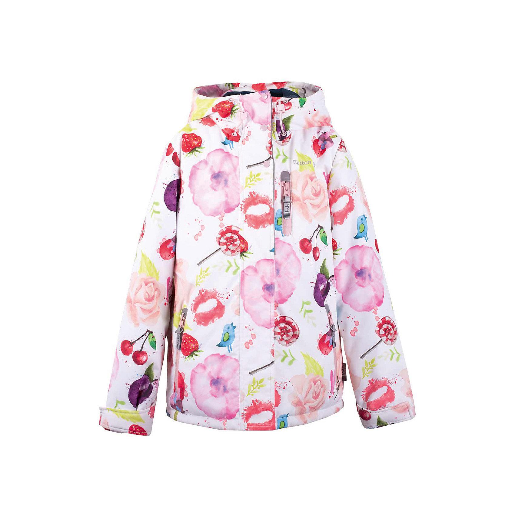 Куртка  для девочки  BUTTON BLUEВерхняя одежда<br>Куртка  для девочки  BUTTON BLUE<br>Отличная куртка на синтепоне для девочки понравится всем, кто любит активный отдых. Куртка  сделана с соблюдением технологических особенностей производства спортивной одежды. Она не промокает, специальная подкладка создает комфорт при длительной носке, светоотражающие элементы способствуют безопасности ребенка. Оригинальная водоотталкивающая ткань с эффектным   рисунком, а также цветная подкладка и фурнитура делают куртку яркой. Если вы хотите купить отличную детскую куртку недорого, не сомневаясь в ее качестве и комфорте, куртка от Button Blue - то, что нужно!<br>Состав:<br>Ткань  верха: 100% полиэстер, подклад: 100% полиэстер, утепл.: 100% полиэстер<br><br>Ширина мм: 356<br>Глубина мм: 10<br>Высота мм: 245<br>Вес г: 519<br>Цвет: белый<br>Возраст от месяцев: 120<br>Возраст до месяцев: 132<br>Пол: Женский<br>Возраст: Детский<br>Размер: 146,152,158,98,104,110,116,122,128,134,140<br>SKU: 5524825
