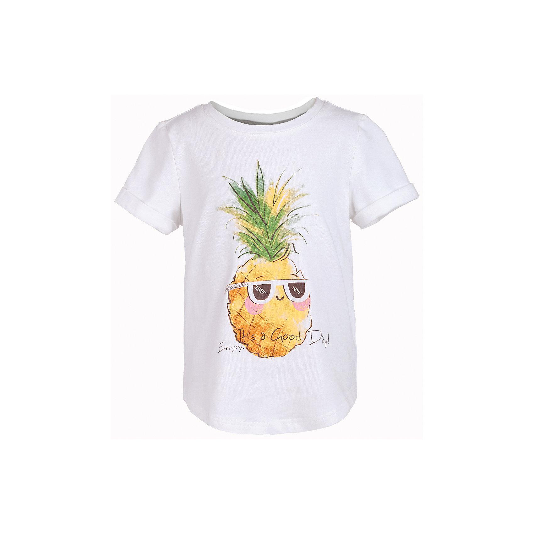 Футболка для девочки  BUTTON BLUEФутболки, поло и топы<br>Футболка для девочки  BUTTON BLUE<br>Белая футболка - не только базовая вещь в гардеробе ребенка, но и залог хорошего летнего настроения! Если вы решили купить недорогую белую футболку для девочки, выберете модель футболки с оригинальным принтом, и ваш ребенок будет доволен! Низкая цена не окажет влияния на бюджет семьи, позволив создать яркий базовый гардероб для долгожданных каникул!<br>Состав:<br>95% хлопок 5% эластан<br><br>Ширина мм: 199<br>Глубина мм: 10<br>Высота мм: 161<br>Вес г: 151<br>Цвет: белый<br>Возраст от месяцев: 108<br>Возраст до месяцев: 120<br>Пол: Женский<br>Возраст: Детский<br>Размер: 140,134,116,110,98,158,152,146<br>SKU: 5524923