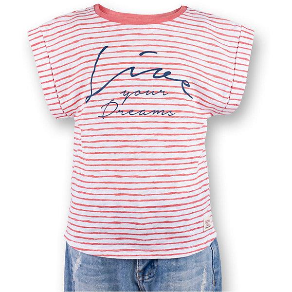 Футболка для девочки  BUTTON BLUEФутболки, поло и топы<br>Футболка для девочки  BUTTON BLUE<br>Полосатая футболка - не только базовая вещь в гардеробе ребенка, но и залог хорошего летнего настроения! Если вы решили купить футболку для девочки, выберете модель футболки в полоску с оригинальным принтом, и ваш ребенок будет доволен! Низкая цена не окажет влияния на бюджет семьи, позволив создать яркий базовый гардероб для долгожданных каникул!<br>Состав:<br>100%  хлопок<br><br>Ширина мм: 199<br>Глубина мм: 10<br>Высота мм: 161<br>Вес г: 151<br>Цвет: розовый<br>Возраст от месяцев: 120<br>Возраст до месяцев: 132<br>Пол: Женский<br>Возраст: Детский<br>Размер: 146,152,122,116,110,104,98,140,134,128,158<br>SKU: 5524944