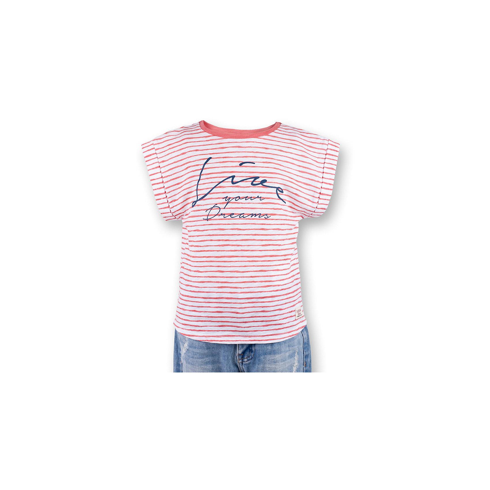 Футболка для девочки  BUTTON BLUEФутболки, поло и топы<br>Футболка для девочки  BUTTON BLUE<br>Полосатая футболка - не только базовая вещь в гардеробе ребенка, но и залог хорошего летнего настроения! Если вы решили купить футболку для девочки, выберете модель футболки в полоску с оригинальным принтом, и ваш ребенок будет доволен! Низкая цена не окажет влияния на бюджет семьи, позволив создать яркий базовый гардероб для долгожданных каникул!<br>Состав:<br>100%  хлопок<br><br>Ширина мм: 199<br>Глубина мм: 10<br>Высота мм: 161<br>Вес г: 151<br>Цвет: розовый<br>Возраст от месяцев: 24<br>Возраст до месяцев: 36<br>Пол: Женский<br>Возраст: Детский<br>Размер: 98,158,104,110,116,122,128,134,140,146,152<br>SKU: 5524944