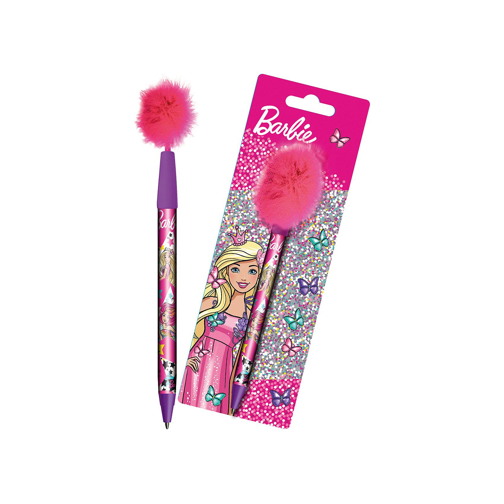 Ручка синяя шариковая с перьями Barbie, MattelBarbie<br>Ручка шариковая Mattel Barbie, синие чернила, наконечник ручки украшен перьями, блистерная упаковка позволит перьям не помяться в процессе транспортировки или при хранении.<br><br>Ширина мм: 165<br>Глубина мм: 2<br>Высота мм: 70<br>Вес г: 25<br>Возраст от месяцев: 48<br>Возраст до месяцев: 96<br>Пол: Женский<br>Возраст: Детский<br>SKU: 5525043