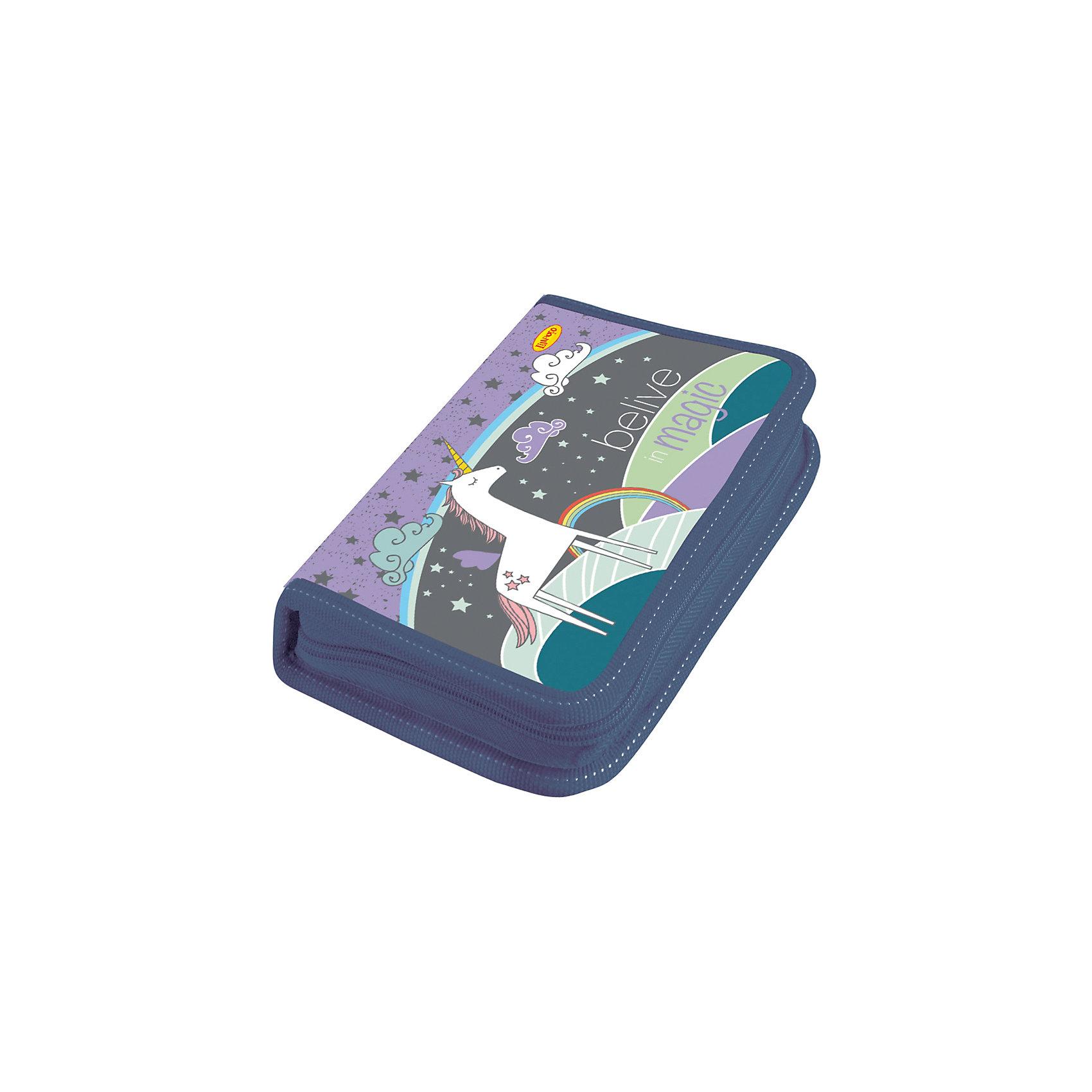 Пенал средний ЕдинорогШкольный пенал - одна из самых важных вещей для успешной учебы ребенка. Пенал средний, двухстворчатый, жесткий, ламинированный, на молнии, без наполнения. Внутри предусмотрены крепления для канцелярских принадлежностей. Внутренняя поверхность пенала легко чиститься от следов ручек и карандашей с помощью влажной тряпки и мыльного раствора.<br><br>Ширина мм: 195<br>Глубина мм: 27<br>Высота мм: 11<br>Вес г: 86<br>Возраст от месяцев: 48<br>Возраст до месяцев: 96<br>Пол: Женский<br>Возраст: Детский<br>SKU: 5525049