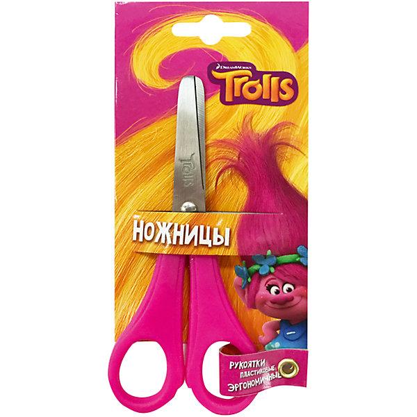 Детские ножницы 13 см, с блистером TrollsШкольные аксессуары<br>Детские ножницы 13 см, с блистером. Блистер открытый. Можно проверить работу ножниц не доставая из упаковки. Пластиковые ручки, безопасно скругленные лезвия, с дизайном Trolls<br>Ширина мм: 16; Глубина мм: 1; Высота мм: 70; Вес г: 27; Возраст от месяцев: 36; Возраст до месяцев: 144; Пол: Унисекс; Возраст: Детский; SKU: 5525065;