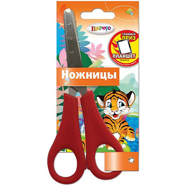 Детские ножницы 13 см, с блистером ДжунглиШкольные аксессуары<br>Детские ножницы 13 см, с блистером. Блистер открытый. Можно проверить работу ножниц не доставая из упаковки. Пластиковые ручки, безопасно скругленные лезвия, с дизайном  Limpopo Джунгли<br>Ширина мм: 15; Глубина мм: 1; Высота мм: 70; Вес г: 26; Возраст от месяцев: 36; Возраст до месяцев: 144; Пол: Унисекс; Возраст: Детский; SKU: 5525066;