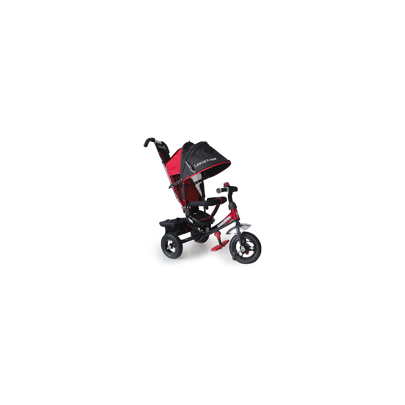 Трехколесный велосипед, регулир. спинка, красный, Lexus Trike LTВелосипеды детские<br>Характеристики товара:<br><br>• цвет: красный<br>• надувные резиновые колеса с алюминиевыми спицами и металлическими втулками <br>• диаметр колес: передние 25 см (10) с функцией свободного хода, задние 20 см (8)<br>• двойная телескопическая родительская ручка с мягкими рукоятками из пористой резины и сумочкой<br>• спинка с регулируемым углом наклона (3 положения) <br>• складная подставкя для ног<br>• складной тент колясочного типа с фиксаторами положения и окошком<br>• покрытое мягкой тканью сидение с двухточечным ремнем безопасности<br>• подголовник на спинке<br>• стопоры задних колёс<br>• регулируемая поворотная рычаг-спица<br>• раздвижная дуга безопасности с мягкими подлокотниками из пористой резины<br>• багажная корзина с крышкой<br>• звонок<br>• вес: 12,8 кг<br>• размер в собранном виде: 47х110х81 см<br>• допустимый вес: до 25 кг<br>• рекомендуемый возраст: от 1 до 3 лет<br>• габариты упаковки: 38х30х63 см<br>• страна производства: Китай<br><br>Трехколесный велосипед Lexus Trike LT можно купить в нашем магазине.<br><br>Ширина мм: 810<br>Глубина мм: 470<br>Высота мм: 1100<br>Вес г: 12800<br>Возраст от месяцев: 12<br>Возраст до месяцев: 36<br>Пол: Женский<br>Возраст: Детский<br>SKU: 5526363