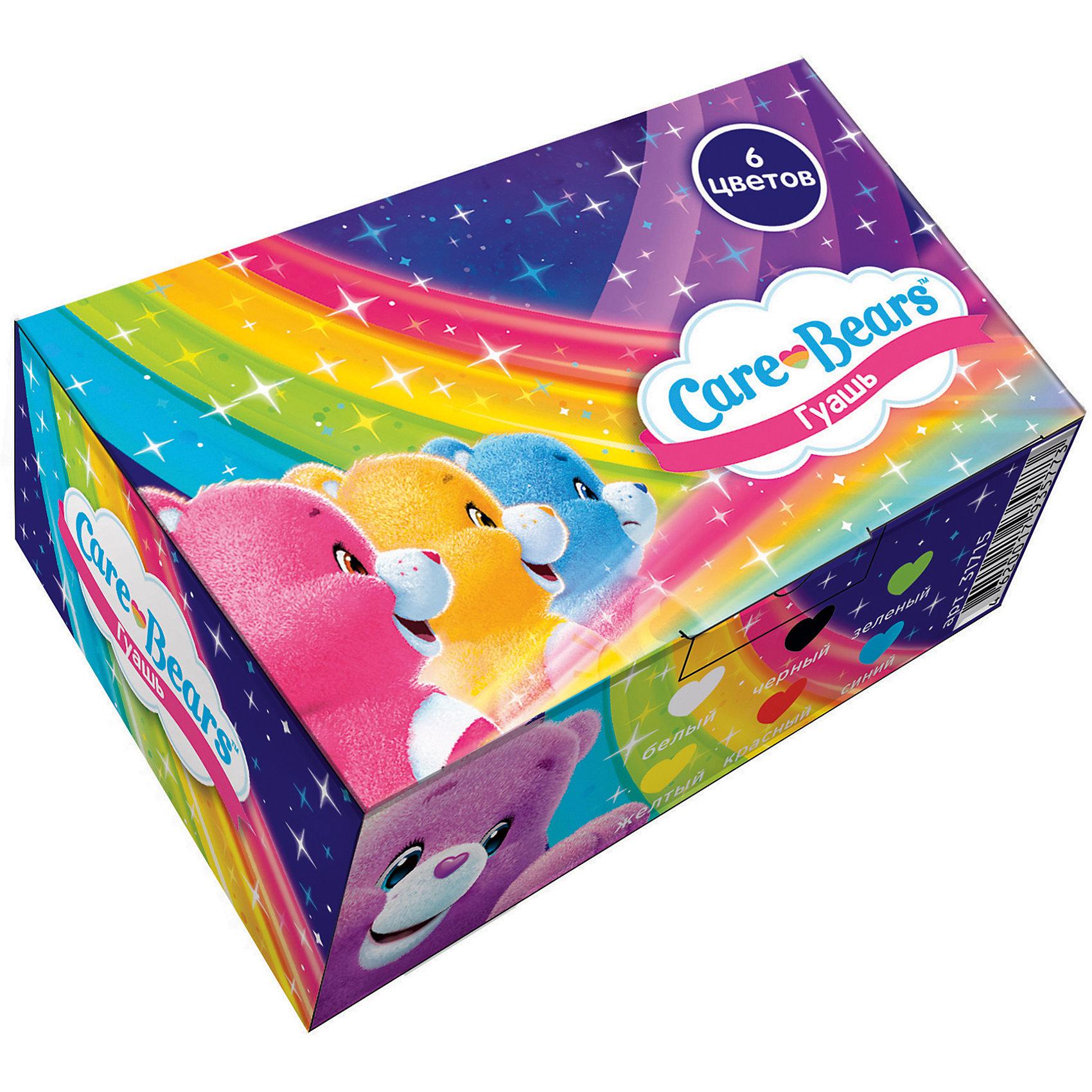 Гуашь «Заботливые мишки», 6 цветовГуашь<br>Гуашь «Заботливые мишки», 6 цветов.<br><br>Характеристики:<br><br>• Для детей в возрасте: от 3 лет<br>• В наборе: 6 насыщенных цветов гуаши в прозрачных баночках по 20 мл с навинчивающимися крышками<br>• Цвета: белый, желтый, красный, синий, зеленый, черный<br>• Состав: вода питьевая, метилцеллюлоза, пигменты органические и неорганические, глицерин<br>• Упаковка: картонная коробка<br>• Размер упаковки: 12х7,7х4 см.<br>• Вес: 240 гр.<br>• Срок годности: 2 года<br><br>Шесть насыщенных цветов гуаши Заботливые мишки помогут вашему юному художнику создавать множество ярких рисунков, развивая при этом воображение, мелкую моторику, цветовосприятие и умение рисовать. Гуашь идеально подходит для рисования на бумаге, картоне, холсте, ткани и фанере: она хорошо размывается водой, легко наносится, при высыхании приобретает матовую, бархатистую поверхность. Гуашь легко смывается с рук и одежды, безопасна при использовании по назначению.<br><br>Гуашь «Заботливые мишки», 6 цветов можно купить в нашем интернет-магазине.<br><br>Ширина мм: 120<br>Глубина мм: 77<br>Высота мм: 40<br>Вес г: 240<br>Возраст от месяцев: 36<br>Возраст до месяцев: 2147483647<br>Пол: Женский<br>Возраст: Детский<br>SKU: 5526408
