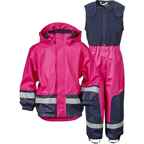 Непромокаемый комплект BOARDMAN для девочки DIDRIKSONSВерхняя одежда<br>Детский костюм из абсолютно водронепроницаемого мягкого полиуретана Galon на подкладке из флиса. Все швы проклеены, что обеспечивает максимальную защиту от внешней влаги. Регулируемый съемный капюшон и пояс брюк. Резинки для ботинок. Фронтальная молния под планкой. Зона коленей усилена дополнительным слоем ткани. Светоотражатели. Ткань - износоустойчивая, за ней легко ухаживать - грязь легко удаляется с помощью влажной губки или ткани. Костюм незаменим в ненастную прохладную погоду, рассчитан на температуру от 0 до +7. Ребёнок будет счастлив обмерить все лужи, залезть на все сугробы и прокатиться на грязных горках и останется сухим, а мама довольной.<br>Состав:<br>Верх - 100% полиуретан, подкладка - 100% полиэстер<br><br>Ширина мм: 356<br>Глубина мм: 10<br>Высота мм: 245<br>Вес г: 519<br>Цвет: розовый<br>Возраст от месяцев: 96<br>Возраст до месяцев: 108<br>Пол: Женский<br>Возраст: Детский<br>Размер: 130,140,120,110,100,90,70,80<br>SKU: 5527181