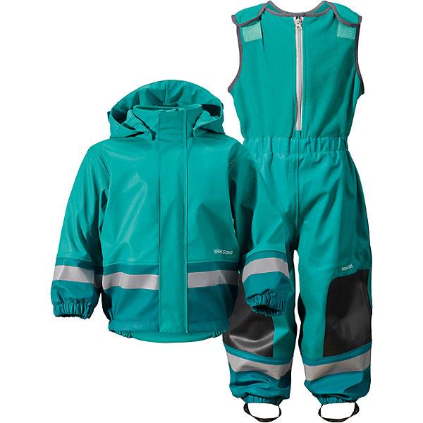 Непромокаемый комплект BOARDMAN  DIDRIKSONS1913Верхняя одежда<br>Детский костюм из абсолютно водронепроницаемого мягкого полиуретана Galon на подкладке из флиса. Все швы проклеены, что обеспечивает максимальную защиту от внешней влаги. Регулируемый съемный капюшон и пояс брюк. Резинки для ботинок. Фронтальная молния под планкой. Зона коленей усилена дополнительным слоем ткани. Светоотражатели. Ткань - износоустойчивая, за ней легко ухаживать - грязь легко удаляется с помощью влажной губки или ткани. Костюм незаменим в ненастную прохладную погоду, рассчитан на температуру от 0 до +7. Ребёнок будет счастлив обмерить все лужи, залезть на все сугробы и прокатиться на грязных горках и останется сухим, а мама довольной.<br>Состав:<br>Верх - 100% полиуретан, подкладка - 100% полиэстер<br>Ширина мм: 356; Глубина мм: 10; Высота мм: 245; Вес г: 519; Цвет: зеленый; Возраст от месяцев: 6; Возраст до месяцев: 9; Пол: Унисекс; Возраст: Детский; Размер: 70,80; SKU: 5527185;