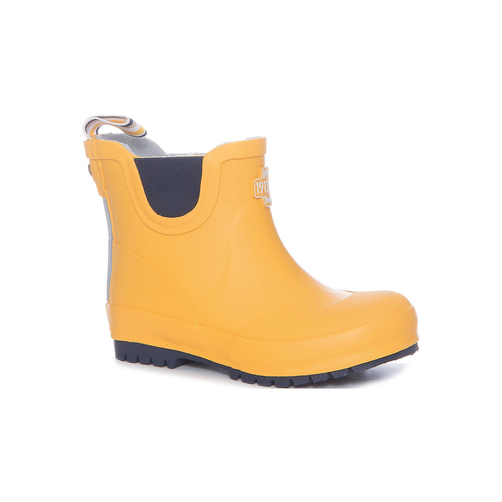 Резиновые сапоги CULLEN  DIDRIKSONSРезиновые сапоги<br>Яркие резиновые сапоги  из натурального каучука - практичная и удобная обувь для дождливой погоды. Мягкая текстильная подкладка из полиэстера обеспечит тепло и комфорт при носке. Ортопедическая стелька вынимается. Рельефная подошва предотвратит скольжение. <br>Состав:<br>Верх - 100% каучук, подкладка - 100% полиэстер<br><br>Ширина мм: 237<br>Глубина мм: 180<br>Высота мм: 152<br>Вес г: 438<br>Цвет: желтый<br>Возраст от месяцев: 96<br>Возраст до месяцев: 108<br>Пол: Унисекс<br>Возраст: Детский<br>Размер: 32,23,26,29,25,27<br>SKU: 5527205