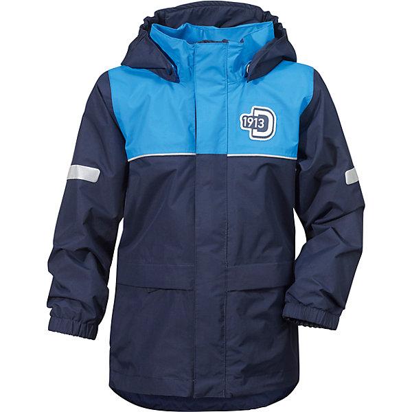 Куртка JEZERI для мальчика DIDRIKSONSВерхняя одежда<br>Характеристики товара:<br><br>• цвет: морской бриз<br>• материал: 100% полиэстер, покрытие 100% полиуретан<br>• подкладка: 100% полиэстер, трикотаж<br>• утеплитель: нет<br>• температурный режим: от +5°С до +20°С<br>• сезон: демисезон<br>• мембранная<br>• водонепроницаемость: 5000 мм<br>• воздухопроницаемость: 4000 мм<br>• ветронепродуваемая<br>• дышащя ткань<br>• проклеенные швы <br>• планка на молнии<br>• застежка: молния<br>• капюшон отстегивается с помощью кнопок<br>• защита подбородка от защемления<br>• карманы на молнии<br>• манжеты на резинке<br>• система увеличения размера<br>• утяжка по подолу с фиксатором<br>• легкий уход <br>• страна бренда: Швеция<br>• страна производства: Китай<br><br>Демисезонная куртка из непромокаемой и непродуваемой мембранной ткани. Все швы проклеены, что обеспечивает максимальную защиту от внешней влаги. Подкладка из полиэстера. Съемный регулируемый капюшон. Рукава -  на резинке. Светоотражатели. Модель растет вместе с ребенком: уникальный крой изделия позволяет при необходимости увеличить длину рукавов на один размер, распустив специальный внутренний шов. <br><br>Куртку JEZERI для мальчика от бренда DIDRIKSONS (Дидриксонс) можно купить в нашем интернет-магазине.<br>Ширина мм: 356; Глубина мм: 10; Высота мм: 245; Вес г: 519; Цвет: голубой; Возраст от месяцев: 12; Возраст до месяцев: 15; Пол: Мужской; Возраст: Детский; Размер: 120,130,100,80,90,110; SKU: 5527214;