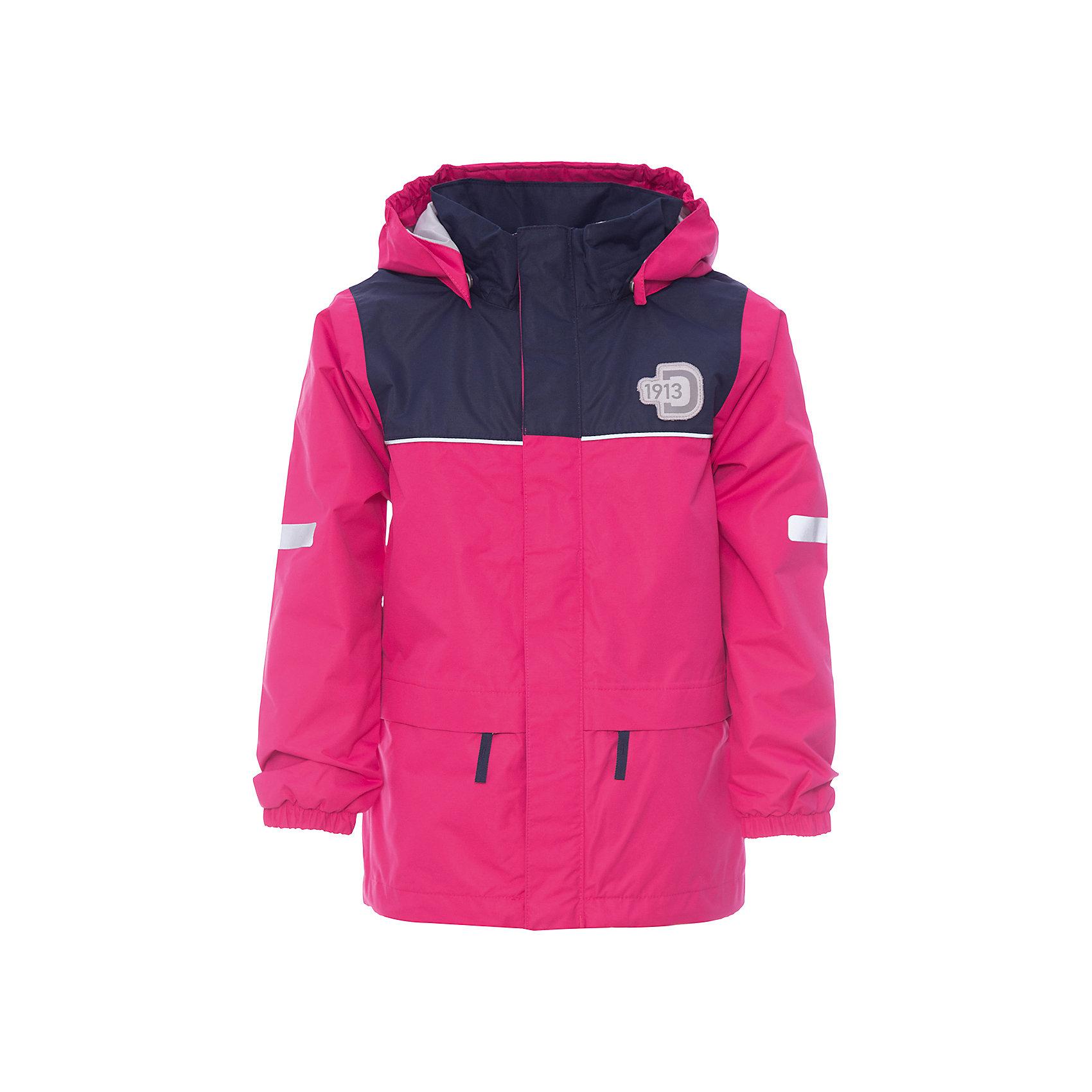 Куртка JEZERI для девочки DIDRIKSONSВерхняя одежда<br>Характеристики товара:<br><br>• цвет: розовый<br>• материал: 100% полиэстер, покрытие 100% полиуретан<br>• подкладка: 100% полиэстер, трикотаж<br>• утеплитель: нет<br>• температурный режим: от +5°С до +20°С<br>• сезон: демисезон<br>• мембранная<br>• водонепроницаемость: 5000 мм<br>• воздухопроницаемость: 4000 мм<br>• ветронепродуваемая<br>• дышащя ткань<br>• проклеенные швы <br>• планка на молнии<br>• застежка: молния<br>• капюшон отстегивается с помощью кнопок<br>• защита подбородка от защемления<br>• карманы на молнии<br>• манжеты на резинке<br>• система увеличения размера<br>• утяжка по подолу с фиксатором<br>• легкий уход <br>• страна бренда: Швеция<br>• страна производства: Китай<br><br>Демисезонная куртка из непромокаемой и непродуваемой мембранной ткани. Все швы проклеены, что обеспечивает максимальную защиту от внешней влаги. Подкладка из полиэстера. Съемный регулируемый капюшон. Рукава -  на резинке. Светоотражатели. Модель растет вместе с ребенком: уникальный крой изделия позволяет при необходимости увеличить длину рукавов на один размер, распустив специальный внутренний шов. <br><br>Куртку JEZERI для девочки от бренда DIDRIKSONS (Дидриксонс) можно купить в нашем интернет-магазине.<br><br>Ширина мм: 356<br>Глубина мм: 10<br>Высота мм: 245<br>Вес г: 519<br>Цвет: розовый<br>Возраст от месяцев: 36<br>Возраст до месяцев: 48<br>Пол: Женский<br>Возраст: Детский<br>Размер: 100,80,130,120,110,140,90<br>SKU: 5527221