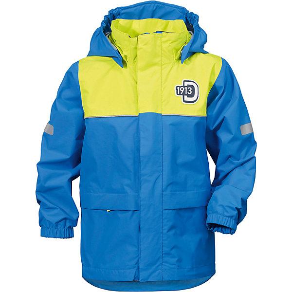 Куртка JEZERI для мальчика DIDRIKSONSВерхняя одежда<br>Характеристики товара:<br><br>• цвет: синий<br>• материал: 100% полиэстер, покрытие 100% полиуретан<br>• подкладка: 100% полиэстер, трикотаж<br>• утеплитель: нет<br>• температурный режим: от +5°С до +20°С<br>• сезон: демисезон<br>• мембранная<br>• водонепроницаемость: 5000 мм<br>• воздухопроницаемость: 4000 мм<br>• ветронепродуваемая<br>• дышащя ткань<br>• проклеенные швы <br>• планка на молнии<br>• застежка: молния<br>• капюшон отстегивается с помощью кнопок<br>• защита подбородка от защемления<br>• карманы на молнии<br>• манжеты на резинке<br>• система увеличения размера<br>• утяжка по подолу с фиксатором<br>• легкий уход <br>• страна бренда: Швеция<br>• страна производства: Китай<br><br>Демисезонная куртка из непромокаемой и непродуваемой мембранной ткани. Все швы проклеены, что обеспечивает максимальную защиту от внешней влаги. Подкладка из полиэстера. Съемный регулируемый капюшон. Рукава -  на резинке. Светоотражатели. Модель растет вместе с ребенком: уникальный крой изделия позволяет при необходимости увеличить длину рукавов на один размер, распустив специальный внутренний шов. <br><br>Куртку JEZERI для мальчика от бренда DIDRIKSONS (Дидриксонс) можно купить в нашем интернет-магазине.<br>Ширина мм: 356; Глубина мм: 10; Высота мм: 245; Вес г: 519; Цвет: голубой; Возраст от месяцев: 12; Возраст до месяцев: 15; Пол: Мужской; Возраст: Детский; Размер: 140,130,110,80; SKU: 5527229;