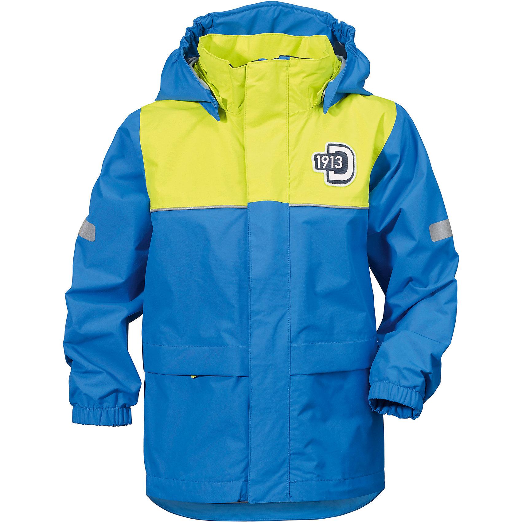 Куртка JEZERI для мальчика DIDRIKSONSВерхняя одежда<br>Куртка из непромокаемой и непродуваемой мембранной ткани. Все швы проклеены, что обеспечивает максимальную защиту от внешней влаги. Подкладка из полиэстера. Съемный регулируемый капюшон. Рукава -  на резинке. Светоотражатели. Модель растет вместе с ребенком: уникальный крой изделия позволяет при необходимости увеличить длину рукавов на один размер, распустив специальный внутренний шов. Практичная демисезонная куртка - идеальный вариант для прогулок на свежем воздухе в весеннюю или осеннюю пору. <br>Состав:<br>Верх - 100% полиэстер, подкладка - 100% полиэстер<br><br>Ширина мм: 356<br>Глубина мм: 10<br>Высота мм: 245<br>Вес г: 519<br>Цвет: голубой<br>Возраст от месяцев: 96<br>Возраст до месяцев: 108<br>Пол: Мужской<br>Возраст: Детский<br>Размер: 130,110,140,80<br>SKU: 5527229