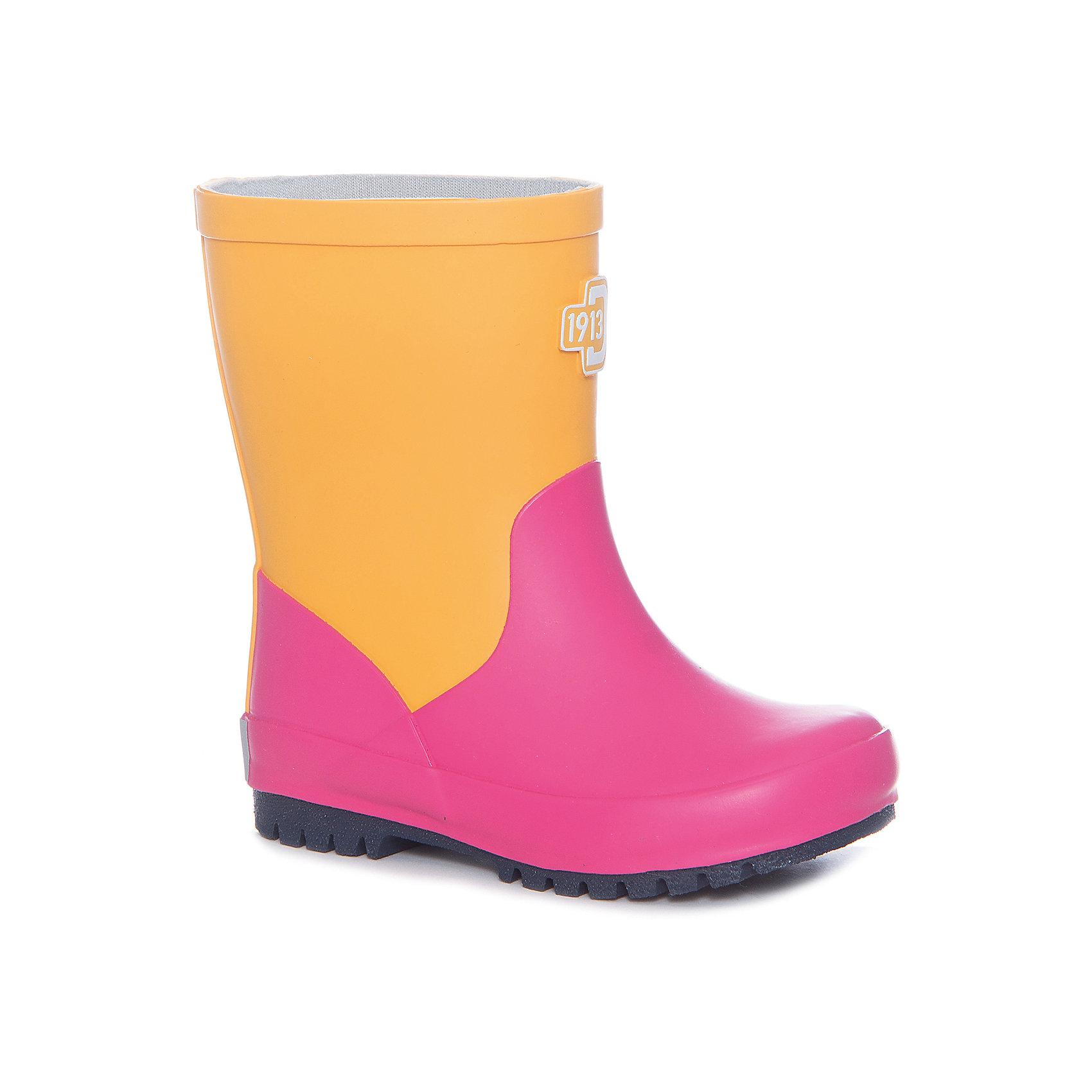 Резиновые сапоги MILAJ для девочки DIDRIKSONSРезиновые сапоги<br>Яркие резиновые сапоги  из натурального каучука - практичная и удобная обувь для дождливой погоды. Мягкая текстильная подкладка из полиэстера обеспечит тепло и комфорт при носке. Ортопедическая стелька вынимается. Рельефная подошва предотвратит скольжение. <br>Состав:<br>Верх - 100% каучук, подкладка - 100% полиэстер<br><br>Ширина мм: 237<br>Глубина мм: 180<br>Высота мм: 152<br>Вес г: 438<br>Цвет: желтый<br>Возраст от месяцев: 108<br>Возраст до месяцев: 120<br>Пол: Женский<br>Возраст: Детский<br>Размер: 33,23,30,31,29,28,27,26,25,24,35,34,32<br>SKU: 5527298