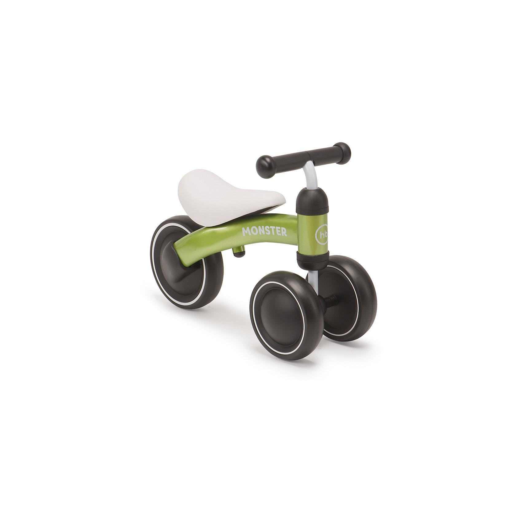 Трехколёсный беговел NEO, зеленый, Happy BabyБеговелы<br>Характеристики товара:<br><br>• возраст от 1 года<br>• максимальная нагрузка до 20 кг<br>• рост ребенка 78-95 см<br>• цвет зеленый<br>• материал: сталь, пластик, полиуретан<br>• стальная рама<br>• бесшумные колёса<br>• высота сидения 24 см<br>• высота руля 34 см<br>• длина беговела 45 см<br>• вес беговела 1,8 кг<br>• размер упаковки 47х25х17 см<br>• вес упаковки 2,2 кг<br>• страна производитель: Китай<br><br>Трехколесный беговел «NEO», зеленый, Happy Baby разработан специально для самых маленьких детей, которые только учатся кататься на транспортном средстве. Благодаря 2 передним колесам беговел хорошо сохраняет устойчивость и не опрокидывается. Малыш учится кататься, отталкиваясь ножками, сохранять равновесие и координировать движения. <br><br>Рама беговела изготовлена из прочной стали. Большие колеса обеспечивают бесшумную езду.<br><br>Трехколесный беговел «NEO», зеленый, Happy Baby можно приобрести в нашем интернет-магазине.<br><br>Ширина мм: 470<br>Глубина мм: 170<br>Высота мм: 250<br>Вес г: 2200<br>Возраст от месяцев: 12<br>Возраст до месяцев: 36<br>Пол: Унисекс<br>Возраст: Детский<br>SKU: 5527347