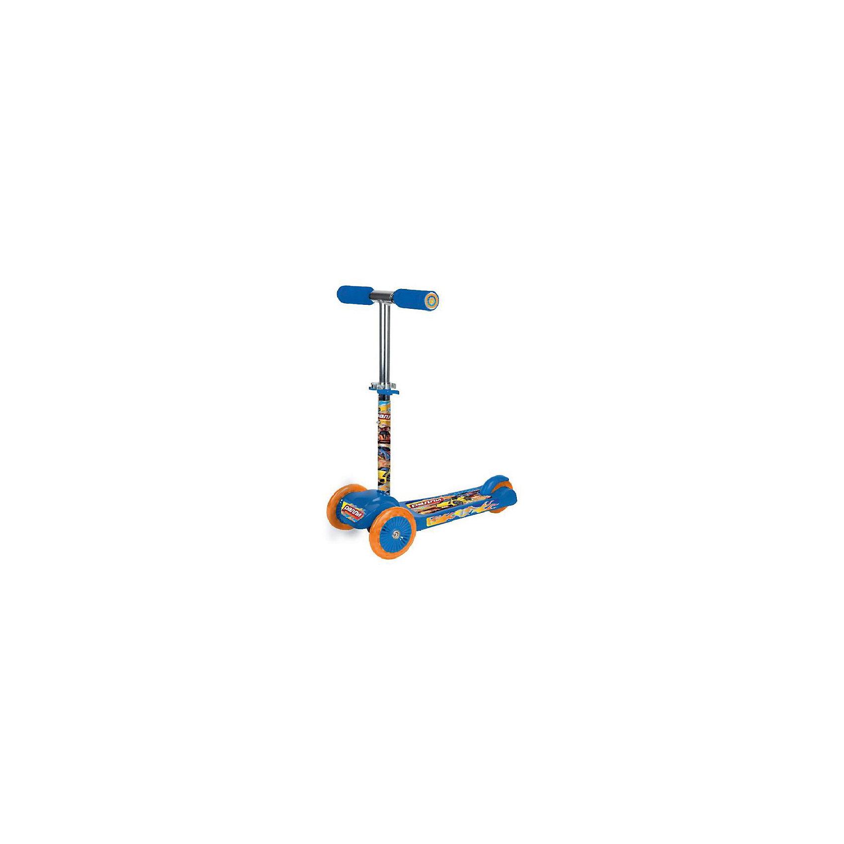 Трехколесный самокат Rally, Next, голубойСамокаты<br>Характеристики товара:<br><br>• цвет: голубой<br>• принт: Rally<br>• колеса: ПВХ, передние 120 мм, заднее 80 мм<br>• платформа 34 х 10 см <br>• противоскользящее покрытие<br>• высокоточный подшипник abec-5<br>• 2 положения высоты руля<br>• управление наклоном<br>• материал: пластик, сталь<br>• мягкие ручки<br>• тормоз заднего колеса<br>• максимальная нагрузка - 20 кг<br>• вес: 2850гр.<br>• размер: 33х50х63 см<br>• возраст: от 2 лет<br><br>Трехколесный самокат Rally, Next с рисунком машин понравится маленькому  гонщику. Удобная и устойчивая конструкция. Ручка самоката может изменять свою длину – от 50 см до 70 см.<br><br>Трехколесный самокат Rally, Next, розовый можно приобрести в нашем интернет-магазине.<br><br>Ширина мм: 330<br>Глубина мм: 500<br>Высота мм: 630<br>Вес г: 2680<br>Возраст от месяцев: 180<br>Возраст до месяцев: 60<br>Пол: Мужской<br>Возраст: Детский<br>SKU: 5528120