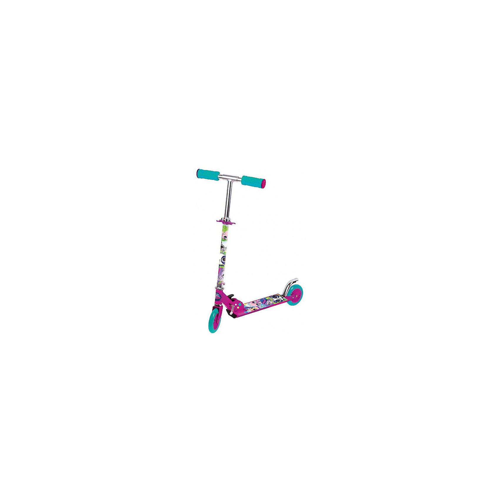 Самокат, Pet Shop, Next, розовыйИгрушки<br>Характеристики товара:<br><br>• цвет: розовый<br>• принт: Пэт Шоп<br>• высококачественные полиуретановые pu колеса: переднее 120 мм, заднее 80 мм,<br>• усиленная платформа с противоскользящей поверхностью, 34х9,5 см<br>• высокоточный подшипник abec-5<br>• 3 положения высоты руля<br>• подножка<br>• материал: алюминий, полипропилен<br>• мягкие резиновые ручки<br>• тормоз заднего колеса<br>• максимальная нагрузка - 50 кг<br>• вес: 2500гр.<br>• размер: 54х74х26 см<br>• возраст: от 2 лет<br><br>Двухколесный самокат Pet Shop, Next розовый можно приобрести в нашем интернет-магазине.<br><br>Ширина мм: 330<br>Глубина мм: 830<br>Высота мм: 650<br>Вес г: 2500<br>Возраст от месяцев: 36<br>Возраст до месяцев: 96<br>Пол: Женский<br>Возраст: Детский<br>SKU: 5528124