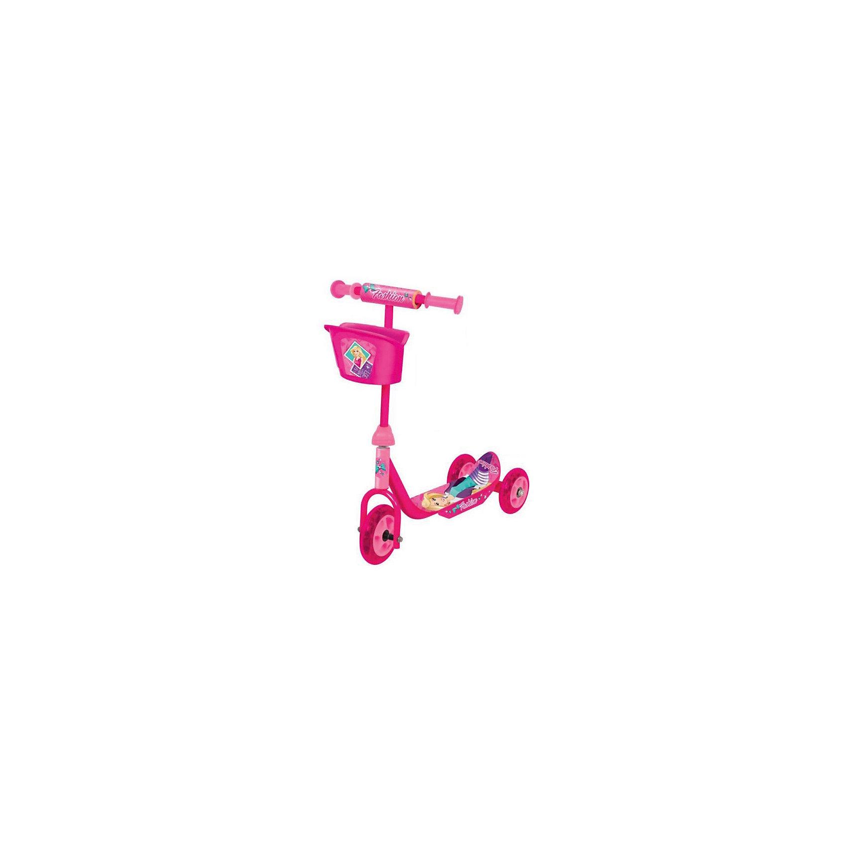 Трехколесный самокат, Fashion, NextСамокаты<br>Cамокат 3-колесный Fashion для самых маленьких- колеса пвх: переднее 140 мм, задние 125 мм,- платформа 34 х 10 см,- материал: пластик, сталь,- удобная пластиковая корзина,- устойчивая безопасная конструкция,- максимальная нагрузка - 20 кг<br><br>Ширина мм: 140<br>Глубина мм: 510<br>Высота мм: 340<br>Вес г: 3170<br>Возраст от месяцев: 180<br>Возраст до месяцев: 48<br>Пол: Унисекс<br>Возраст: Детский<br>SKU: 5528131