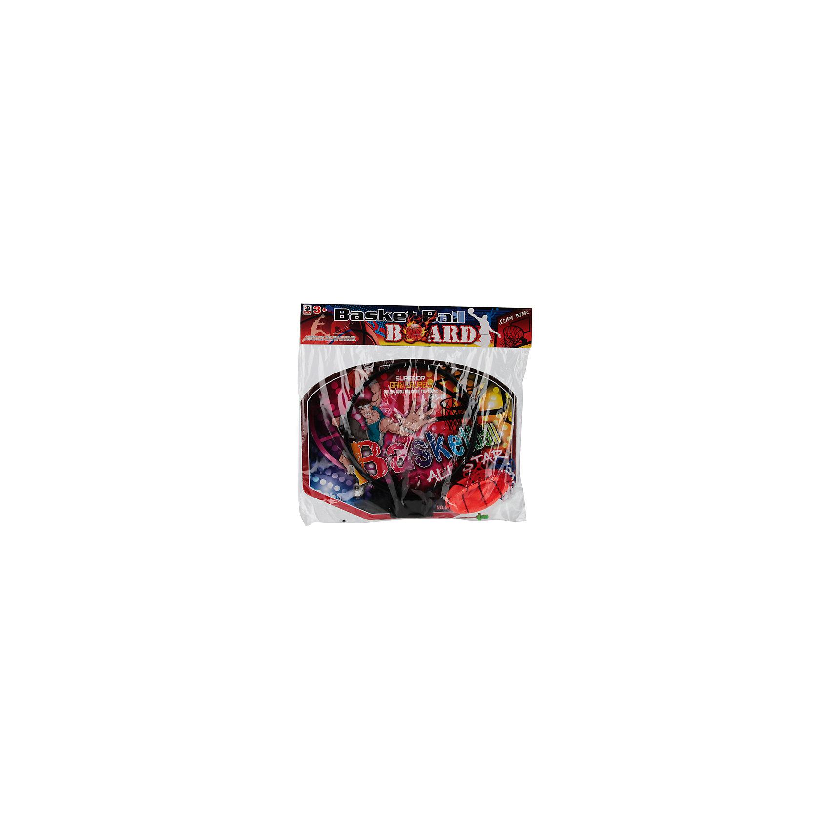 Набор для игры в баскетбол, красныйИгровые наборы<br>Характеристики товара:<br><br>• цвет: красный<br>• вид спорта: баскетбол<br>• материал: пластик, текстиль<br>• комплект: щит с кольцом, сетка, мяч, игла для надувания<br>• возраст: с 3 лет<br>• размер: 21х20х28см<br>• вес: 140гр<br><br>В комплект входит баскетбольный щит с кольцом и сеткой, который можно легко прикрепить к любой стене, а также мяч и игла для накачивания мяча. <br><br>Благодаря небольшим размерам набора, в баскетбол можно играть как во дворе, так и у себя в комнате.<br><br>Набор для игры в баскетбол можно купить в нашем интернет-магазине.<br><br>Ширина мм: 210<br>Глубина мм: 20<br>Высота мм: 280<br>Вес г: 140<br>Возраст от месяцев: 36<br>Возраст до месяцев: 96<br>Пол: Унисекс<br>Возраст: Детский<br>SKU: 5528146