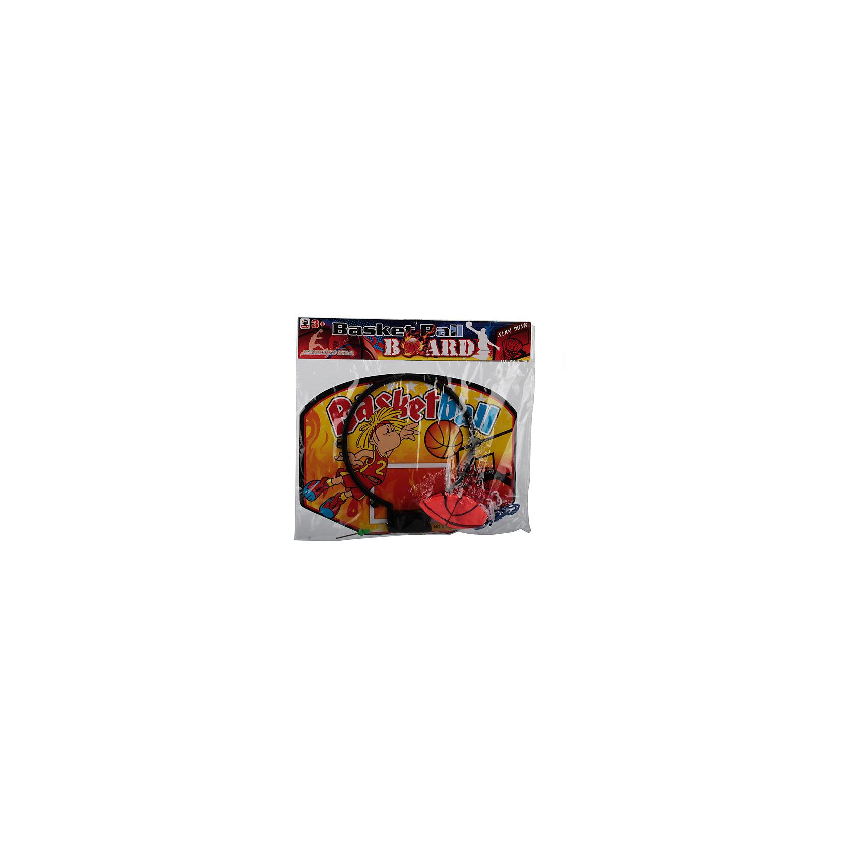 Набор для игры в баскетбол, желтыйИгровые наборы<br>Характеристики товара:<br><br>• цвет: красный<br>• вид спорта: баскетбол<br>• материал: пластик, текстиль<br>• комплект: щит с кольцом, сетка, мяч, игла для надувания<br>• возраст: с 3 лет<br>• размер: 21х20х28см<br>• вес: 140гр<br><br>В комплект входит баскетбольный щит с кольцом и сеткой, который можно легко прикрепить к любой стене, а также мяч и игла для накачивания мяча. <br><br>Благодаря небольшим размерам набора, в баскетбол можно играть как во дворе, так и у себя в комнате.<br><br>Набор для игры в баскетбол можно купить в нашем интернет-магазине.<br><br>Ширина мм: 210<br>Глубина мм: 20<br>Высота мм: 280<br>Вес г: 140<br>Возраст от месяцев: 36<br>Возраст до месяцев: 96<br>Пол: Унисекс<br>Возраст: Детский<br>SKU: 5528147