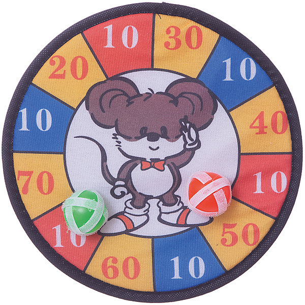 Дартс с липучкамиИгровые наборы<br>Характеристики товара:<br><br>• возраст: от 3 лет<br>• комплект: мишень, 2 мячика<br>• материал: пластик, текстиль<br>• размер упаковки: 25х25х4см<br><br>Спортивный набор Дартс - это мишень с разноцветными делениями, на каждом из которых изображены числа. За каждое попадание игроку дается то количество очков, на которое попадает шарик. <br><br>Шарики в отличие от обычных дротиков снабжены липучками в целях безопасности. <br><br>Доску можно прикрепить к стене или к другой удобной поверхности. <br><br>В игру могут играть 2 и более детей.<br><br>Дартс с липучками можно купить в нашем интернет-магазине.<br><br>Ширина мм: 40<br>Глубина мм: 250<br>Высота мм: 250<br>Вес г: 40<br>Возраст от месяцев: 12<br>Возраст до месяцев: 96<br>Пол: Унисекс<br>Возраст: Детский<br>SKU: 5528149
