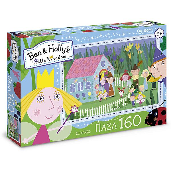 Пазл Идем в гости, Бен и Холли, OrigamiПазлы для малышей<br>Пазл 160 элементов. Комплектность: пазл (220х330). Рекомендованный возраст 3+.<br><br>Ширина мм: 265<br>Глубина мм: 35<br>Высота мм: 175<br>Вес г: 120<br>Возраст от месяцев: 36<br>Возраст до месяцев: 72<br>Пол: Унисекс<br>Возраст: Детский<br>SKU: 5528388