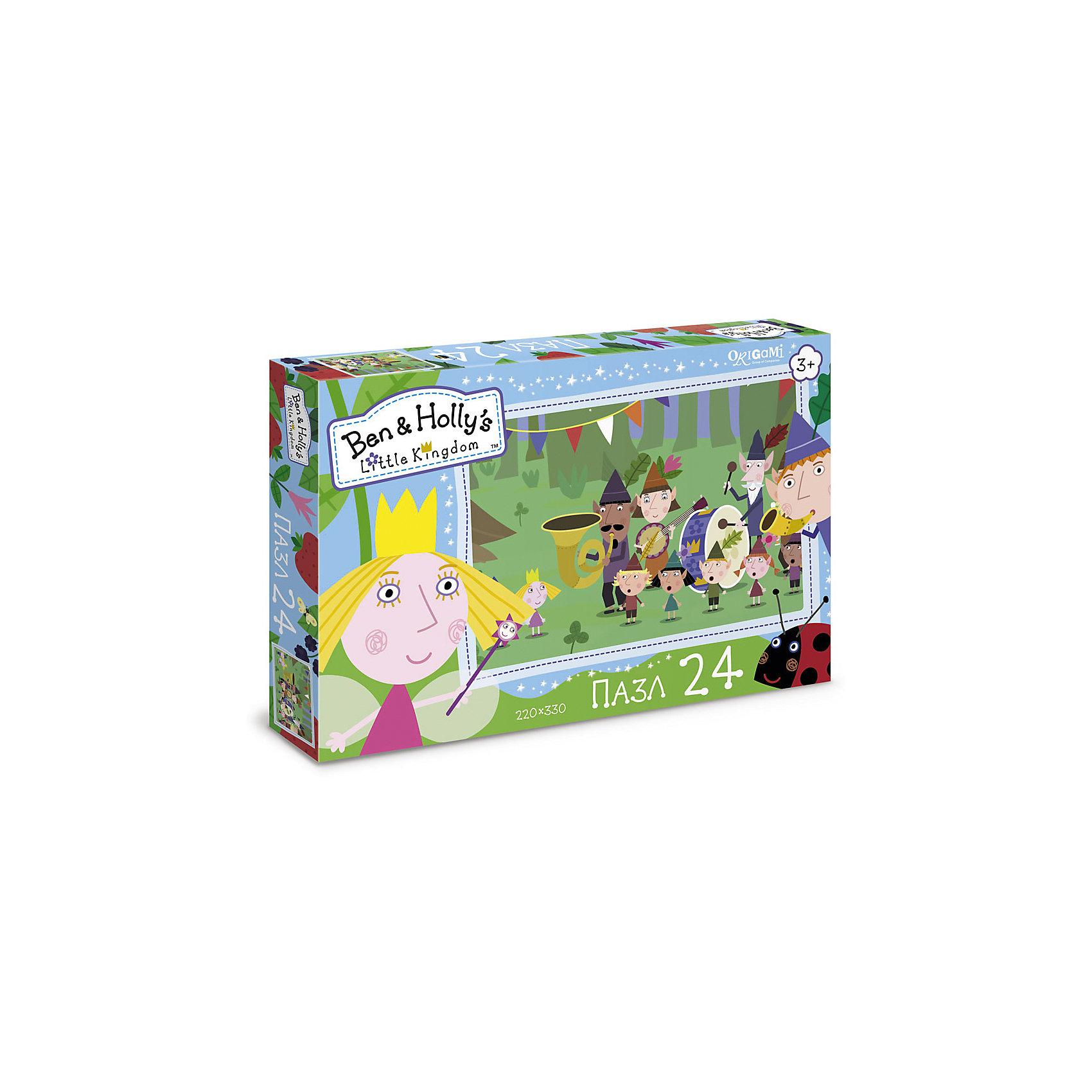 Пазл Музыканты, Бен и Холли, OrigamiПазлы для малышей<br>Пазл 24 элемента в коробке с крышкой. Комплектность: пазл (220х330). Рекомендованный возраст 3+.<br><br>Ширина мм: 265<br>Глубина мм: 35<br>Высота мм: 175<br>Вес г: 100<br>Возраст от месяцев: 36<br>Возраст до месяцев: 72<br>Пол: Унисекс<br>Возраст: Детский<br>SKU: 5528402
