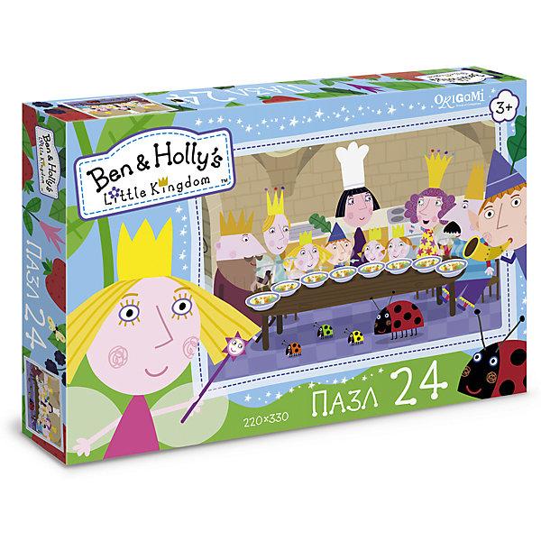 Пазл Поздравление, Бен и Холли, OrigamiПазлы для малышей<br>Пазл 24 элемента в коробке с крышкой. Комплектность: пазл (220х330). Рекомендованный возраст 3+.<br>Ширина мм: 265; Глубина мм: 35; Высота мм: 175; Вес г: 100; Возраст от месяцев: 36; Возраст до месяцев: 72; Пол: Унисекс; Возраст: Детский; SKU: 5528404;