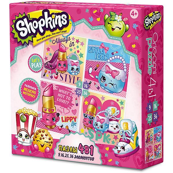 Пазл 4 в 1 Beauty, Shopkins, OrigamiПазлы для малышей<br>Пазл 4 в 1 Beauty, Shopkins, Origami<br><br>Характеристики:<br><br>• Количество деталей: 86 шт.<br>• Размер упаковки: 1,8х0,5х1,8 см<br>• Размер готовой картинки: 22х22 см.<br>• Состав: бумага, картон<br>• Вес: 154 г<br>• Для детей в возрасте: от 4 до 8 лет<br>• Страна производитель: Россия<br><br>Эта игра состоит из 4 наборов пазл: первый состоит из 9 деталей, второй - из 16, третий - из 25 и четвертый состоит из 36 деталей. Ребенок может начать с малого количества деталей, и, если у него получится он может перейти на более высокий уровень. Это будет развивать у ребенка в дальнейшем умение здраво оценивать свои способности и использовать их в нужном направлении. <br><br>Высококачественный пазл отлично собирается, благодаря единым цветам персонажей. Сборка этого пазла не будет сложной, пазл отлично подойдёт новичкам. Закончив сборку вы можете склеить кусочки превратив пазл в красивую картину, или можете разобрать его и снова собрать позже.<br><br>Пазл 4 в 1 Beauty от Shopkins, Origami можно купить в нашем интернет-магазине.<br><br>Ширина мм: 180<br>Глубина мм: 50<br>Высота мм: 180<br>Вес г: 150<br>Возраст от месяцев: 48<br>Возраст до месяцев: 84<br>Пол: Унисекс<br>Возраст: Детский<br>SKU: 5528420