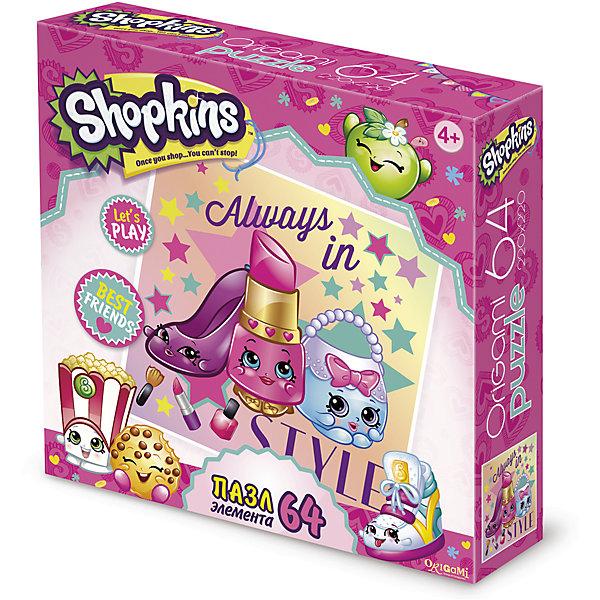 Пазл Always in style, Shopkins, OrigamiПазлы для малышей<br>Пазл Always in style, Shopkins, Origami<br><br>Характеристики:<br><br>• Количество деталей: 64 шт.<br>• Размер упаковки: 15х4,5х15 см.<br>• Размер готовой картинки: 22х22 см.<br>• Состав: бумага, картон<br>• Вес: 100 г.<br>• Для детей в возрасте: от 4 лет<br>• Страна производитель: Россия<br><br>Серия Будь всегда в стиле в виде сумочки, помады и туфельки представленным на цветном фоне порадует фанатов игрушек Шопкинс. <br>Высококачественный пазл отлично собирается, благодаря единым цветам персонажей сборка этого пазла не будет сложной, пазл отлично подойдёт новичкам. Закончив сборку вы можете склеить кусочки превратив пазл в красивую картину, или можете разобрать его и снова собрать позже.<br><br>Пазл Always in style, Shopkins, Origami можно купить в нашем интернет-магазине.<br><br>Ширина мм: 150<br>Глубина мм: 45<br>Высота мм: 150<br>Вес г: 100<br>Возраст от месяцев: 48<br>Возраст до месяцев: 84<br>Пол: Унисекс<br>Возраст: Детский<br>SKU: 5528422