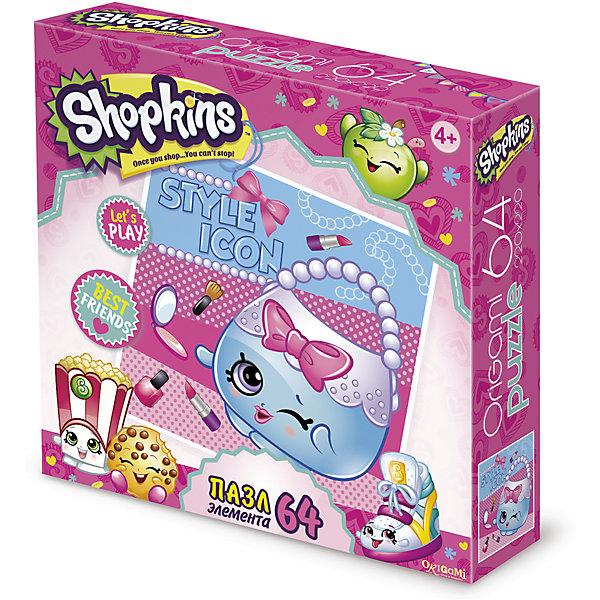 Пазл Style icon, Shopkins, OrigamiПазлы для малышей<br>Пазл Style icon, Shopkins, Origami<br><br>Характеристики:<br><br>• Количество деталей: 64 шт.<br>• Размер упаковки: 15х4,5х15 см.<br>• Размер готовой картинки: 22х22 см.<br>• Состав: бумага, картон<br>• Вес: 100 г.<br>• Для детей в возрасте: от 4 лет<br>• Страна производитель: Россия<br><br>Серия Икона стиля, представительницей которой выступает нежная сумочка в окружении других косметических товаров порадует фанатов игрушек Шопкинс. Высококачественный пазл отлично собирается, благодаря чётким разделениям частей по цвету сборка этого пазла не будет сложной. Закончив сборку вы можете склеить кусочки превратив пазл в красивую картину, или можете разобрать его и снова собрать позже.<br><br>Пазл Style icon, Shopkins, Origami можно купить в нашем интернет-магазине.<br>Ширина мм: 150; Глубина мм: 45; Высота мм: 150; Вес г: 100; Возраст от месяцев: 48; Возраст до месяцев: 84; Пол: Унисекс; Возраст: Детский; SKU: 5528423;