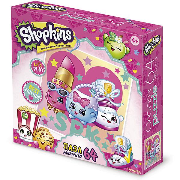 Пазл Стильные штучки, Shopkins, OrigamiПазлы для малышей<br>Пазл Стильные штучки, Shopkins, Origami<br><br>Характеристики:<br><br>• Количество деталей: 64 шт.<br>• Размер упаковки: 15х4,5х15 см.<br>• Размер готовой картинки: 22х22 см.<br>• Состав: бумага, картон<br>• Вес: 100 г.<br>• Для детей в возрасте: от 4 лет<br>• Страна производитель: Россия<br><br>Серия Лучшие друзья, представителями которой выступают яркая помада, нежная сумочка и стильный ботиночек порадует фанатов игрушек Шопкинс. Высококачественный пазл отлично собирается, благодаря чётким разделениям частей по цвету сборка этого пазла не будет сложной. Закончив сборку вы можете склеить кусочки превратив пазл в красивую картину, или можете разобрать его и снова собрать позже.<br><br>Пазл Стильные штучки, Shopkins, Origami можно купить в нашем интернет-магазине.<br>Ширина мм: 215; Глубина мм: 60; Высота мм: 215; Вес г: 100; Возраст от месяцев: 48; Возраст до месяцев: 84; Пол: Унисекс; Возраст: Детский; SKU: 5528425;