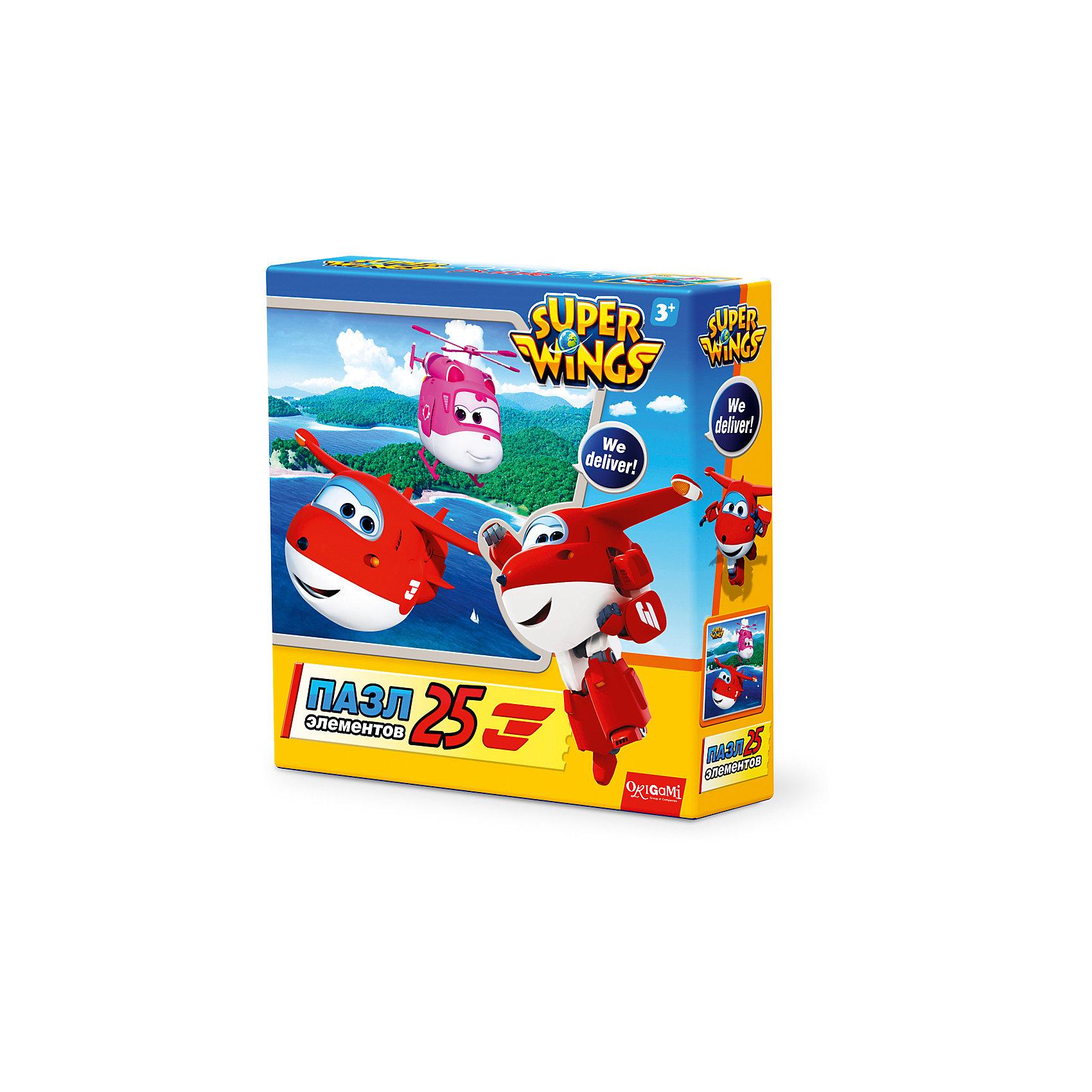 Пазл На островах, Super Wings, OrigamiПазлы для малышей<br>Пазл На островах, Super Wings, Origami<br><br>Характеристики:<br><br>• Количество деталей: 25 шт.<br>• Размер упаковки: 15х4,5х15 см.<br>• Размер готовой картинки: 21х21 см.<br>• Состав: картон<br>• Вес: 100 г.<br>• Для детей в возрасте: от 3 лет<br>• Страна производитель: Россия<br><br>Лицензионный пазл с оригинальным дизайном соответствует высоким стандартам, которые подтверждены сертификатами качества. Пазл отлично собирается, благодаря чётким разделениям частей по цвету сборка этого пазла не будет сложной. Закончив сборку вы можете склеить кусочки превратив пазл в красивую картину, или можете разобрать его и снова собрать позже.<br><br>Пазл На островах, Super Wings, Origami можно купить в нашем интернет-магазине.<br><br>Ширина мм: 150<br>Глубина мм: 45<br>Высота мм: 150<br>Вес г: 100<br>Возраст от месяцев: 36<br>Возраст до месяцев: 72<br>Пол: Унисекс<br>Возраст: Детский<br>SKU: 5528428