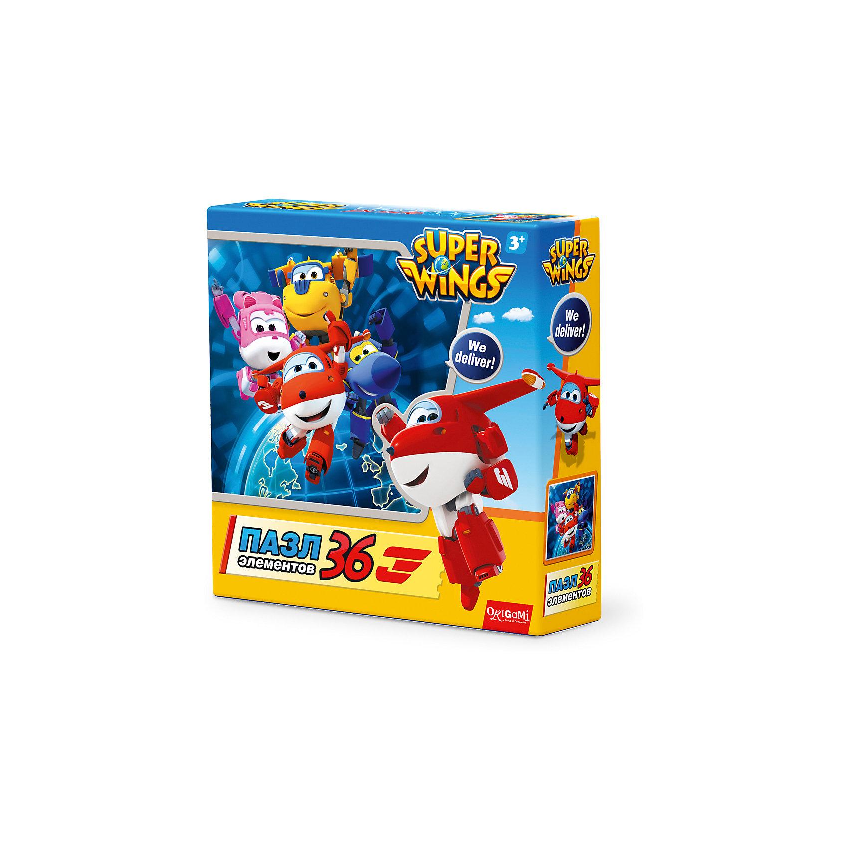 Пазл We deliver!, Super Wings, OrigamiПазлы для малышей<br>Пазл 36 элементов. Комплектность: поле (220х220). Рекомендованный возраст 3+.<br><br>Ширина мм: 150<br>Глубина мм: 45<br>Высота мм: 150<br>Вес г: 100<br>Возраст от месяцев: 36<br>Возраст до месяцев: 72<br>Пол: Унисекс<br>Возраст: Детский<br>SKU: 5528430