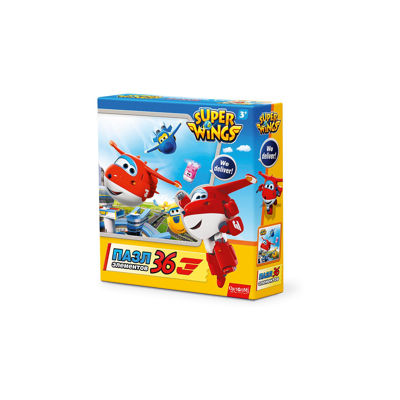 Пазл Взлет, Super Wings, OrigamiПазлы для малышей<br>Пазл Взлет, Super Wings, Origami<br><br>Характеристики:<br><br>• Количество деталей: 36 шт.<br>• Размер упаковки: 15 * 4,5 * 15 см.<br>• Размер готовой картинки: 21 * 21 см.<br>• Состав: картон<br>• Вес: 100 г.<br>• Для детей в возрасте: от 3 до 6 лет<br>• Страна производитель: Россия<br><br>Лицензионный пазл с оригинальным дизайном соответствует высоким стандартам, которые подтверждены сертификатами качества. Пазл отлично собирается, некоторые части картинки повторяются по цвету, это сделает сборку немного сложнее и интереснее. Закончив сборку вы можете склеить кусочки превратив пазл в красивую картину, или можете разобрать его и снова собрать позже.<br><br>Пазл Взлет, Super Wings, Origami можно купить в нашем интернет-магазине.<br><br>Ширина мм: 150<br>Глубина мм: 45<br>Высота мм: 150<br>Вес г: 100<br>Возраст от месяцев: 36<br>Возраст до месяцев: 72<br>Пол: Унисекс<br>Возраст: Детский<br>SKU: 5528431