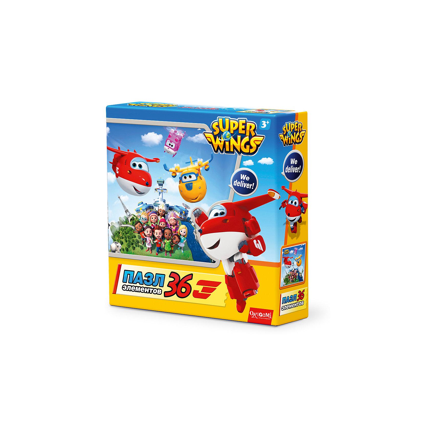 Пазл Целый мир, Super Wings, OrigamiПазлы для малышей<br>Пазл Джетт и команда, Super Wings, Origami<br><br>Характеристики:<br><br>• Количество деталей: 36 шт.<br>• Размер упаковки: 15 * 4,5 * 15 см.<br>• Размер готовой картинки: 21 * 21 см.<br>• Состав: картон<br>• Вес: 100 г.<br>• Для детей в возрасте: от 3 до 6 лет<br>• Страна производитель: Россия<br><br>Лицензионный пазл с оригинальным дизайном соответствует высоким стандартам, которые подтверждены сертификатами качества. Пазл отлично собирается, некоторые части картинки повторяются по цвету, это сделает сборку немного сложнее и интереснее. Закончив сборку вы можете склеить кусочки превратив пазл в красивую картину, или можете разобрать его и снова собрать позже.<br><br>Пазл Джетт и команда, Super Wings, Origami можно купить в нашем интернет-магазине.<br><br>Ширина мм: 150<br>Глубина мм: 45<br>Высота мм: 150<br>Вес г: 100<br>Возраст от месяцев: 36<br>Возраст до месяцев: 72<br>Пол: Унисекс<br>Возраст: Детский<br>SKU: 5528433