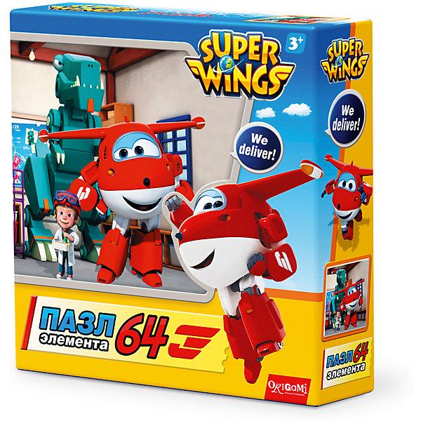 Пазл Полет в Данию, Super Wings, OrigamiПазлы для малышей<br>Пазл Полет в Данию, Super Wings, Origami<br><br>Характеристики:<br><br>• Количество деталей: 64 шт.<br>• Размер упаковки: 15 * 4,5 * 15 см.<br>• Размер готовой картинки: 21 * 21 см.<br>• Состав: картон<br>• Вес: 100 г.<br>• Для детей в возрасте: от 3 лет<br>• Страна производитель: Россия<br><br>Лицензионный пазл с оригинальным дизайном соответствует высоким стандартам, которые подтверждены сертификатами качества. Пазл отлично собирается, некоторые части картинки повторяются по цвету, это сделает сборку немного сложнее и интереснее. Закончив сборку вы можете склеить кусочки превратив пазл в красивую картину, или можете разобрать его и снова собрать позже. <br><br>Пазл Полет в Данию, Super Wings, Origami можно купить в нашем интернет-магазине.<br>Ширина мм: 150; Глубина мм: 45; Высота мм: 150; Вес г: 100; Возраст от месяцев: 36; Возраст до месяцев: 72; Пол: Унисекс; Возраст: Детский; SKU: 5528435;