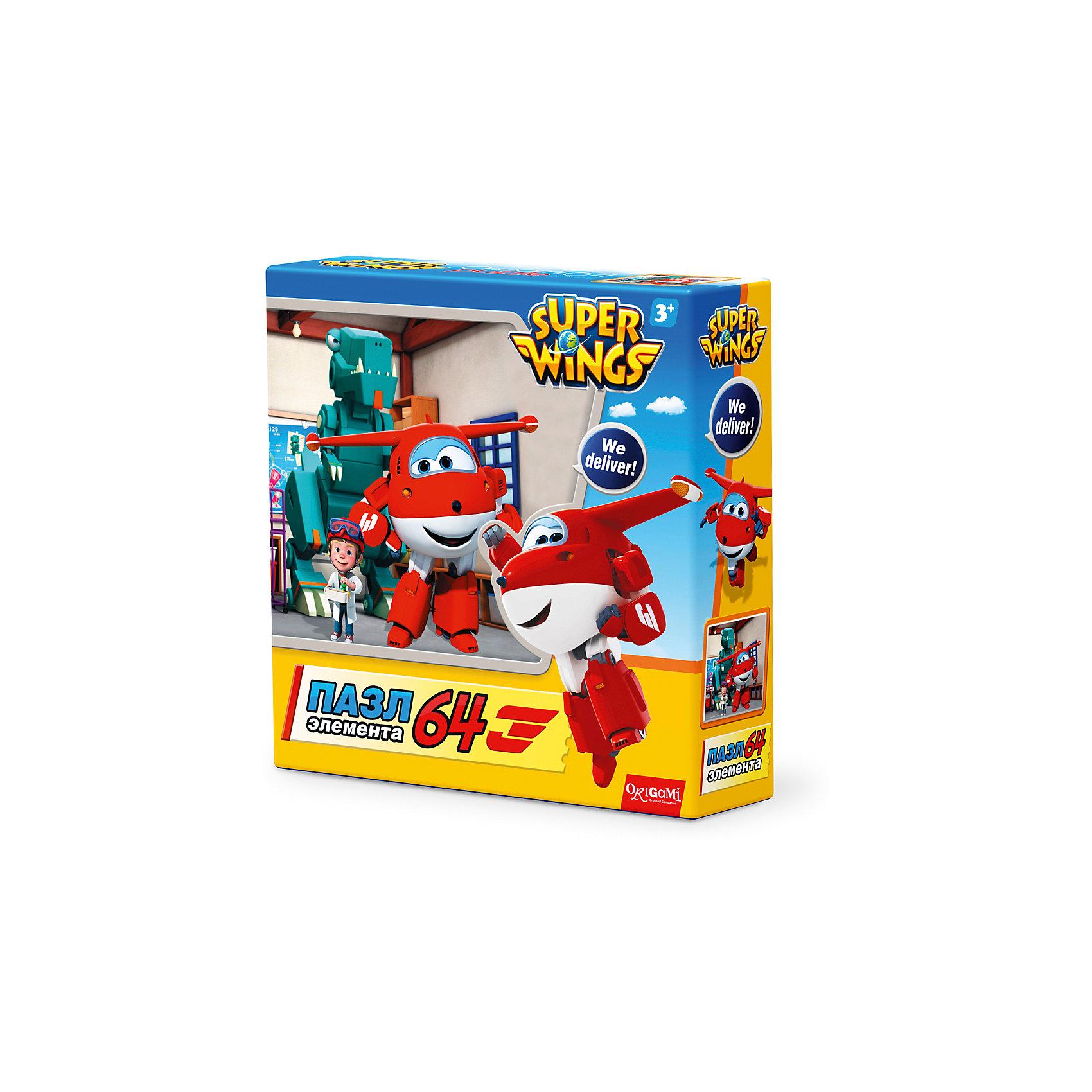 Пазл Полет в Данию, Super Wings, OrigamiПазлы для малышей<br>Пазл Полет в Данию, Super Wings, Origami<br><br>Характеристики:<br><br>• Количество деталей: 64 шт.<br>• Размер упаковки: 15 * 4,5 * 15 см.<br>• Размер готовой картинки: 21 * 21 см.<br>• Состав: картон<br>• Вес: 100 г.<br>• Для детей в возрасте: от 3 лет<br>• Страна производитель: Россия<br><br>Лицензионный пазл с оригинальным дизайном соответствует высоким стандартам, которые подтверждены сертификатами качества. Пазл отлично собирается, некоторые части картинки повторяются по цвету, это сделает сборку немного сложнее и интереснее. Закончив сборку вы можете склеить кусочки превратив пазл в красивую картину, или можете разобрать его и снова собрать позже. <br><br>Пазл Полет в Данию, Super Wings, Origami можно купить в нашем интернет-магазине.<br><br>Ширина мм: 150<br>Глубина мм: 45<br>Высота мм: 150<br>Вес г: 100<br>Возраст от месяцев: 36<br>Возраст до месяцев: 72<br>Пол: Унисекс<br>Возраст: Детский<br>SKU: 5528435