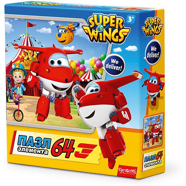 Пазл Приключение в России, Super Wings, OrigamiПазлы для малышей<br>Пазл Приключение в России, Super Wings, Origami<br><br>Характеристики:<br><br>• Количество деталей: 64 шт.<br>• Размер упаковки: 15 * 4,5 * 15 см.<br>• Размер готовой картинки: 21 * 21 см.<br>• Состав: картон<br>• Вес: 100 г.<br>• Для детей в возрасте: от 3 до 6 лет<br>• Страна производитель: Россия<br><br>Лицензионный пазл с оригинальным дизайном соответствует высоким стандартам, которые подтверждены сертификатами качества. Пазл отлично собирается, некоторые части картинки повторяются по цвету, это сделает сборку немного сложнее и интереснее. Закончив сборку вы можете склеить кусочки превратив пазл в красивую картину, или можете разобрать его и снова собрать позже. <br><br>Пазл Приключение в России, Super Wings, Origami можно купить в нашем интернет-магазине.<br><br>Ширина мм: 150<br>Глубина мм: 45<br>Высота мм: 150<br>Вес г: 100<br>Возраст от месяцев: 36<br>Возраст до месяцев: 72<br>Пол: Унисекс<br>Возраст: Детский<br>SKU: 5528436